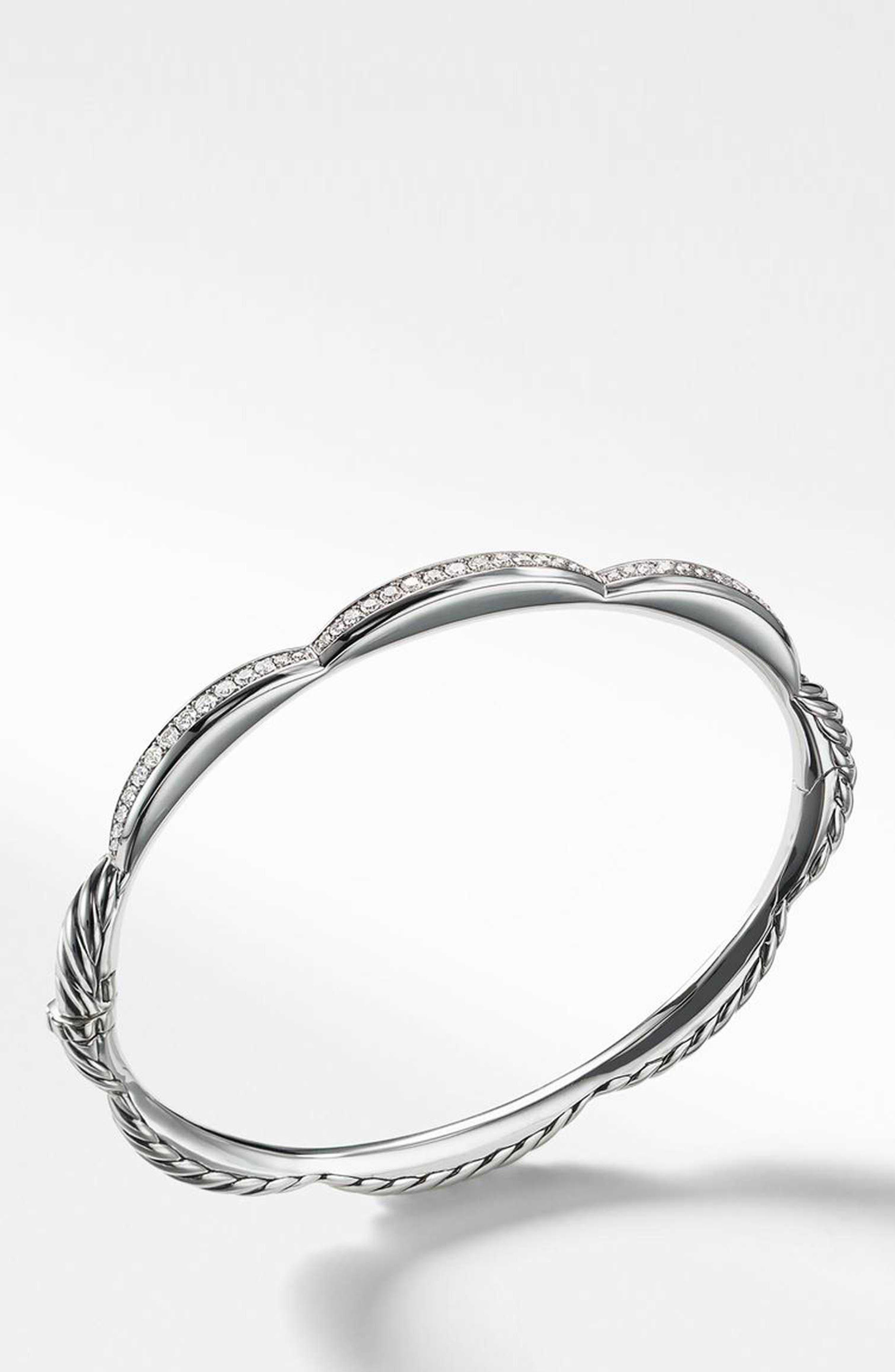 Tides 3-Station Bracelet with Diamonds,                             Alternate thumbnail 2, color,                             STERLING SILVER/ DIAMOND