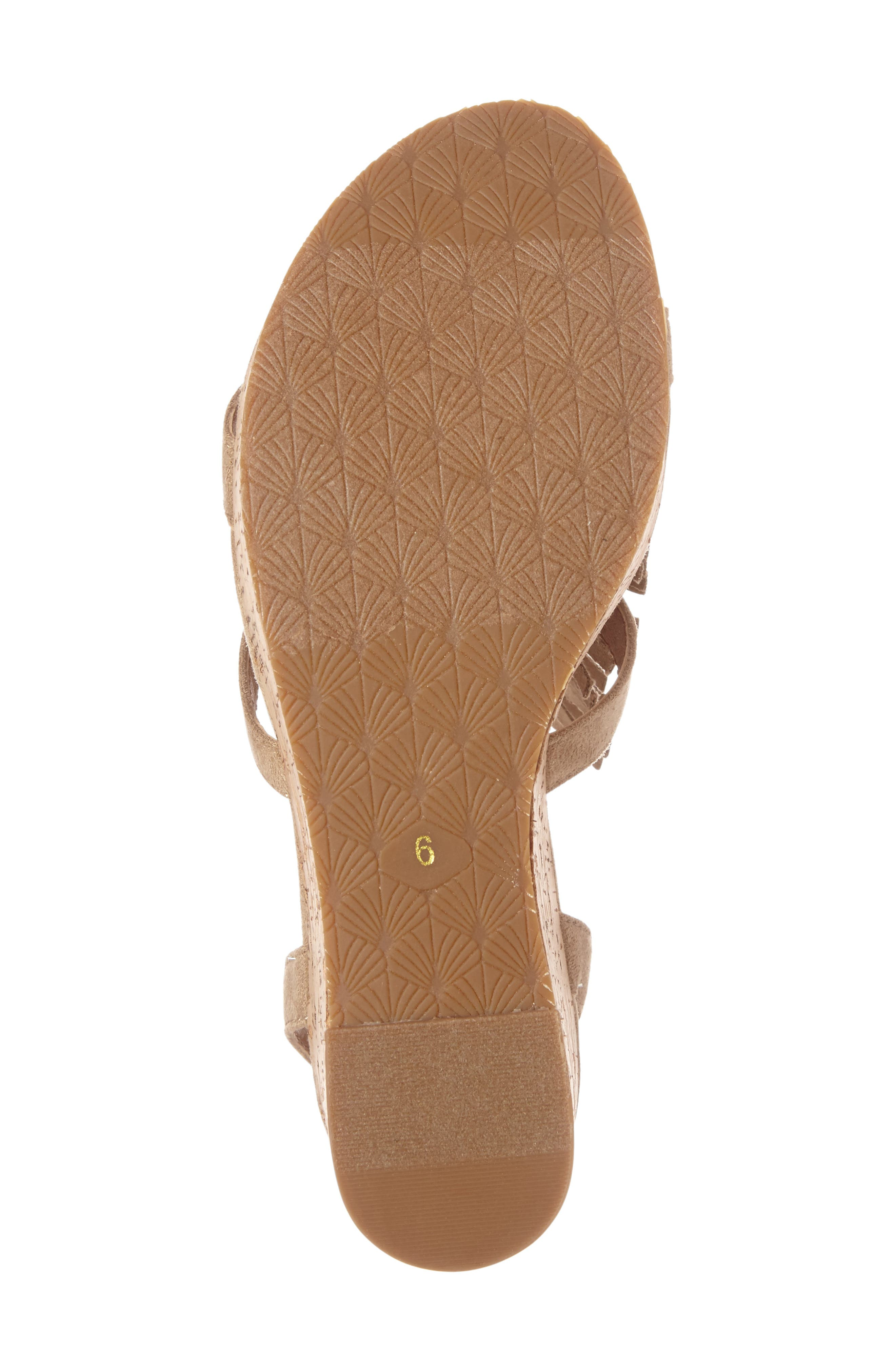 Unbridled Lolita Wedge Sandal,                             Alternate thumbnail 7, color,