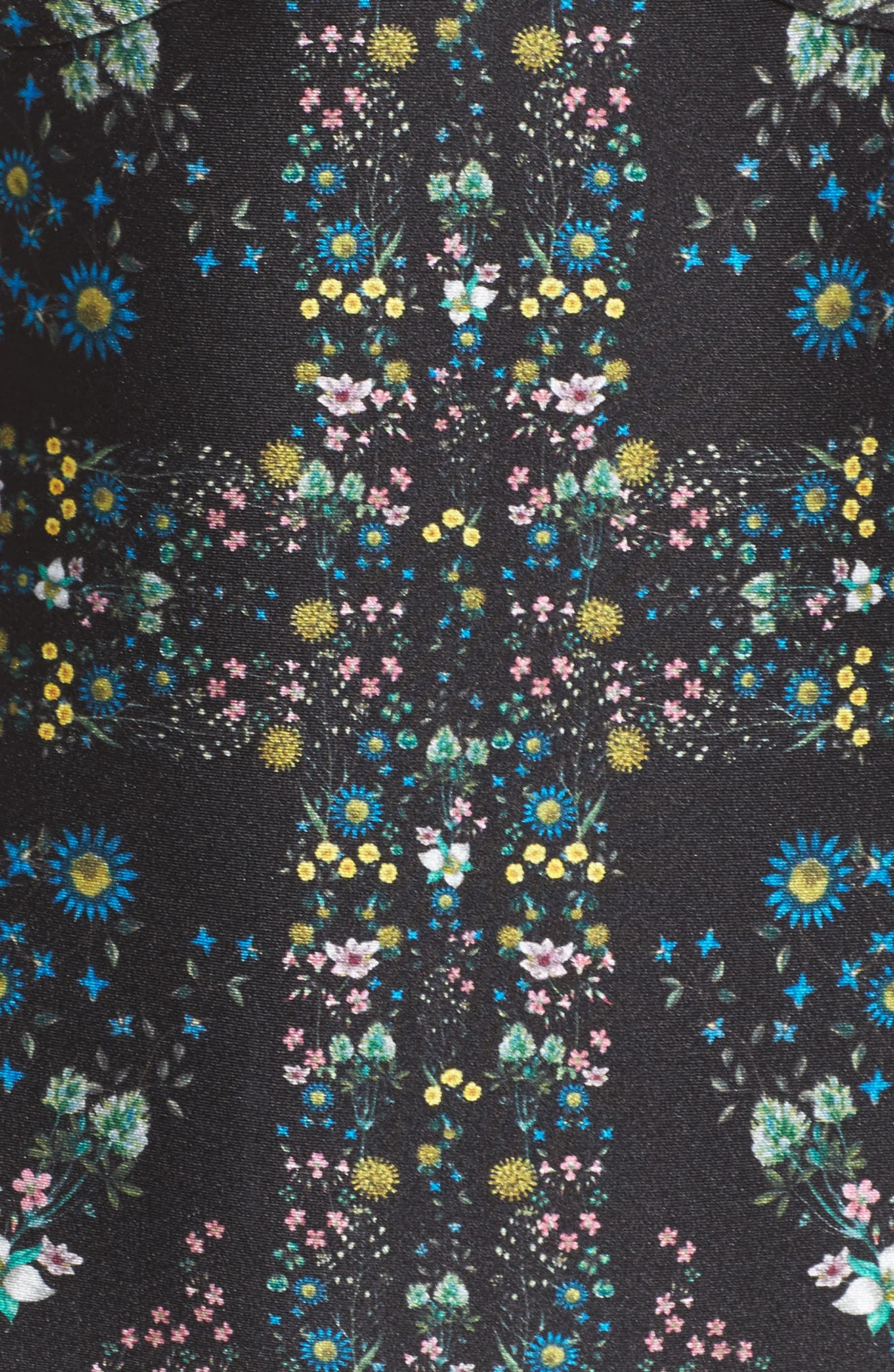 Unity Floral Halter One-Piece Swimsuit,                             Alternate thumbnail 5, color,                             001