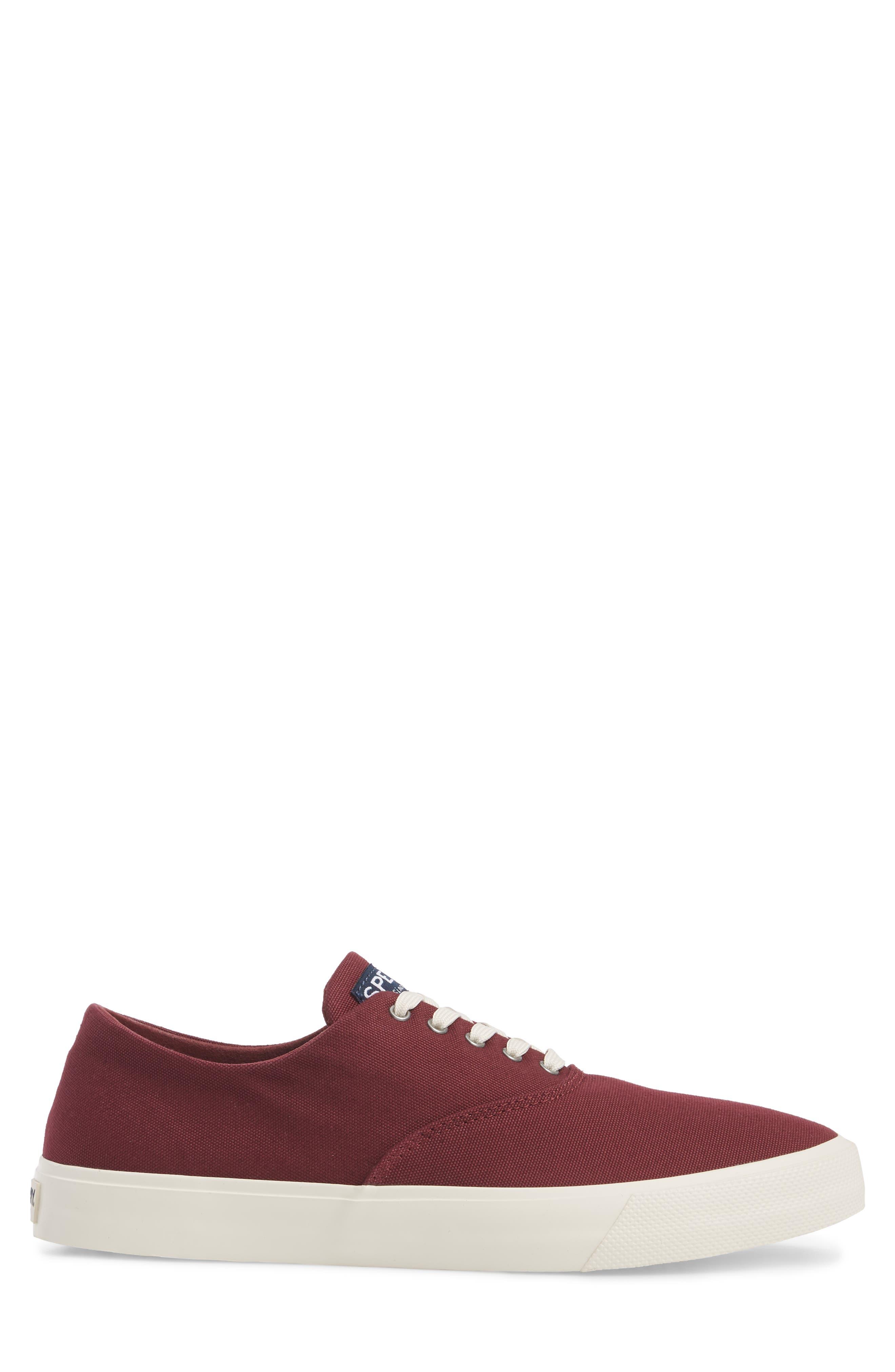 Captain's CVO Sneaker,                             Alternate thumbnail 3, color,                             WINE FABRIC