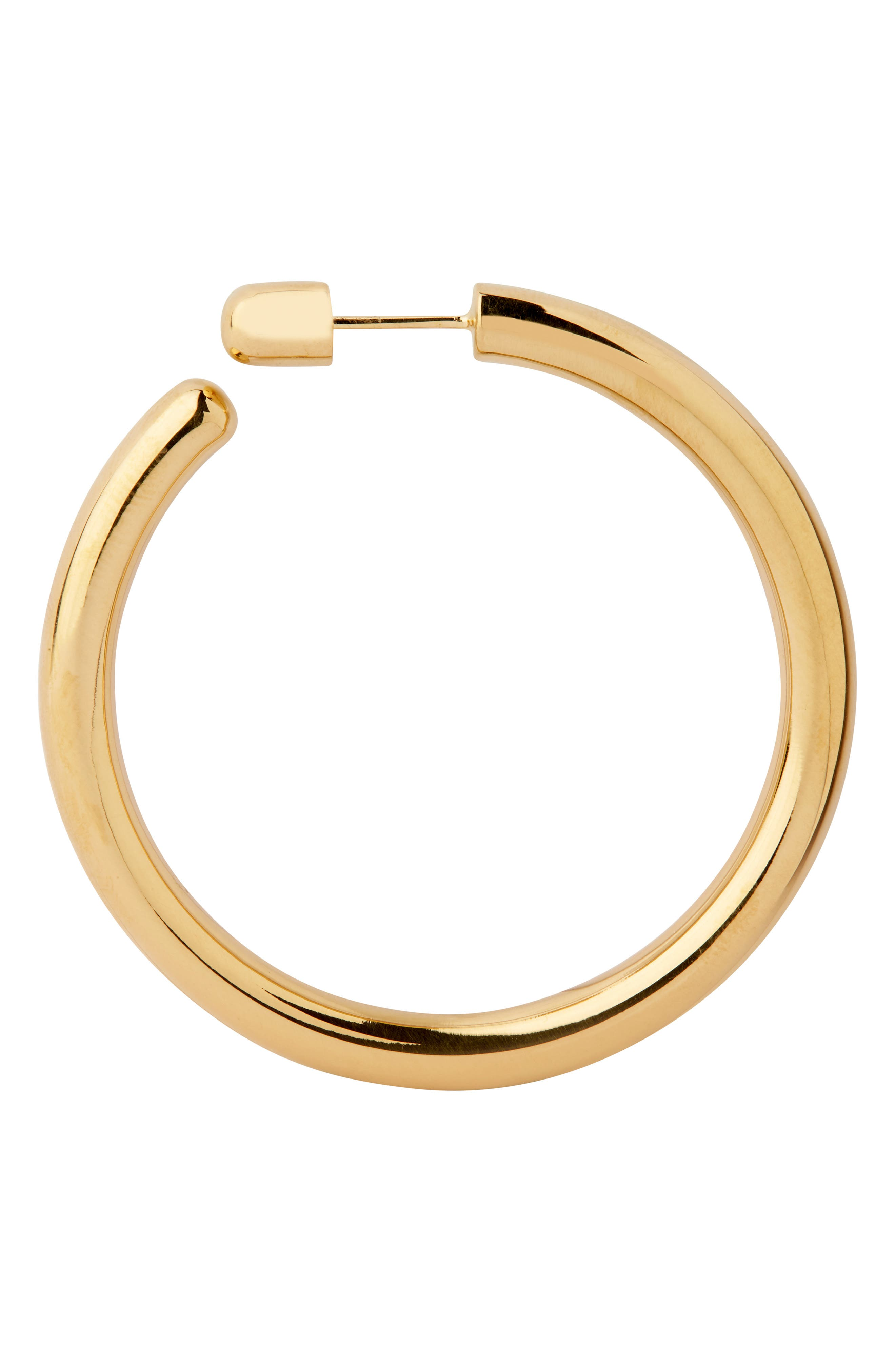 Heroes Hoop Earring,                         Main,                         color, HIGH POLISHED GOLD