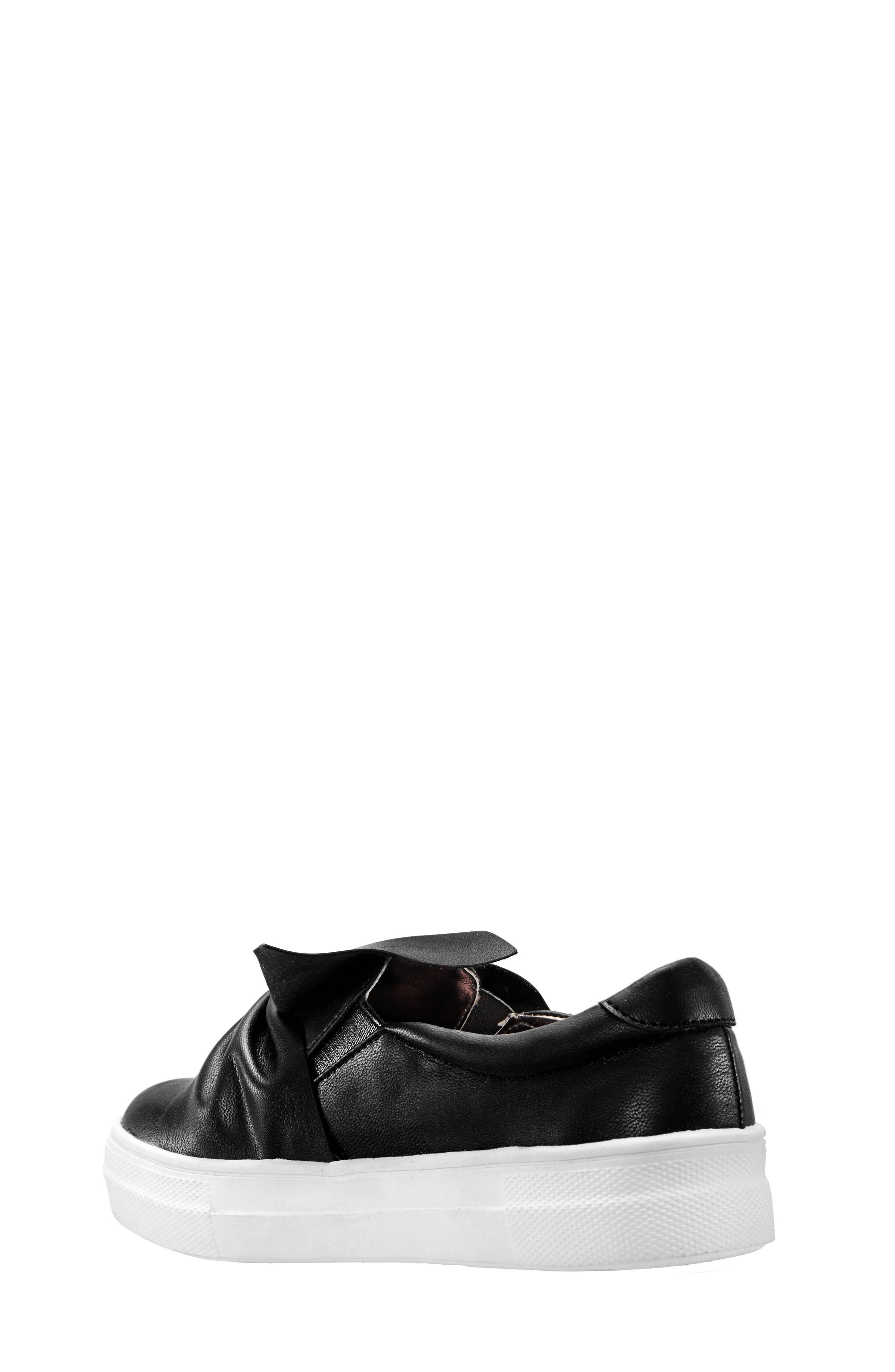 Isabeth Slip-On Sneaker,                             Alternate thumbnail 2, color,                             BLACK SMOOTH