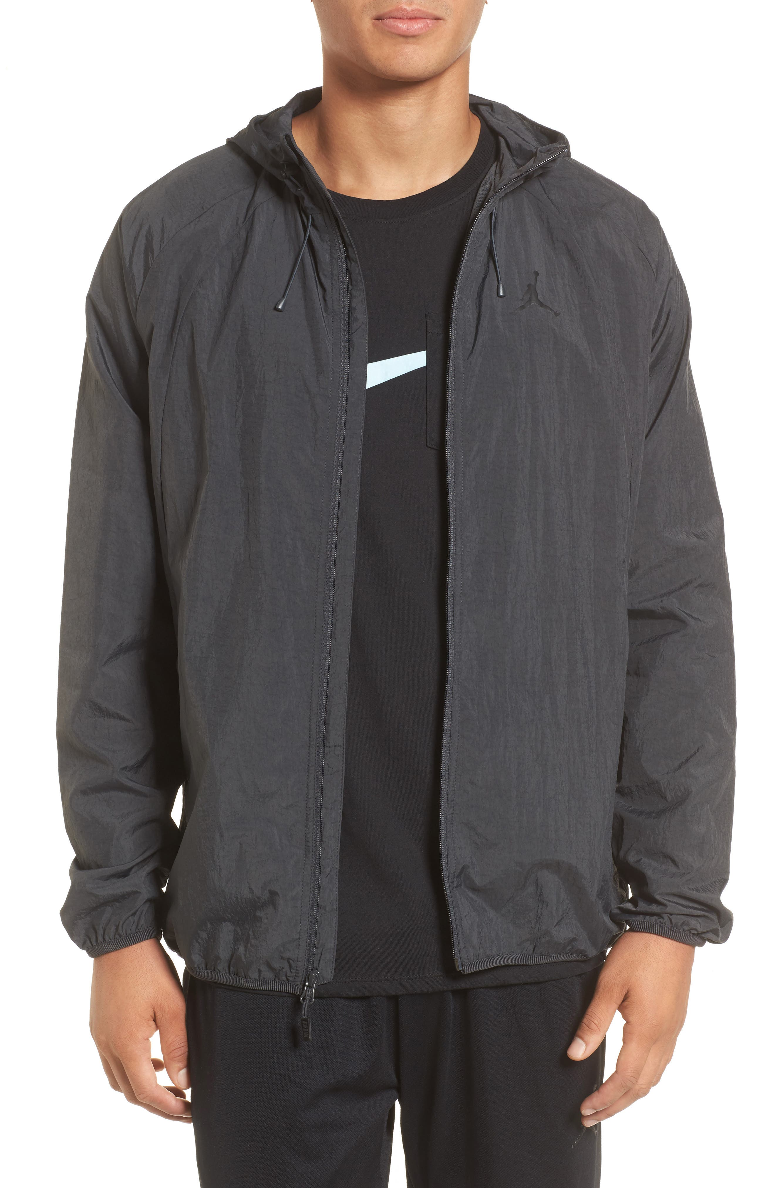 Wings Windbreaker Jacket,                             Main thumbnail 1, color,                             ANTHRACITE