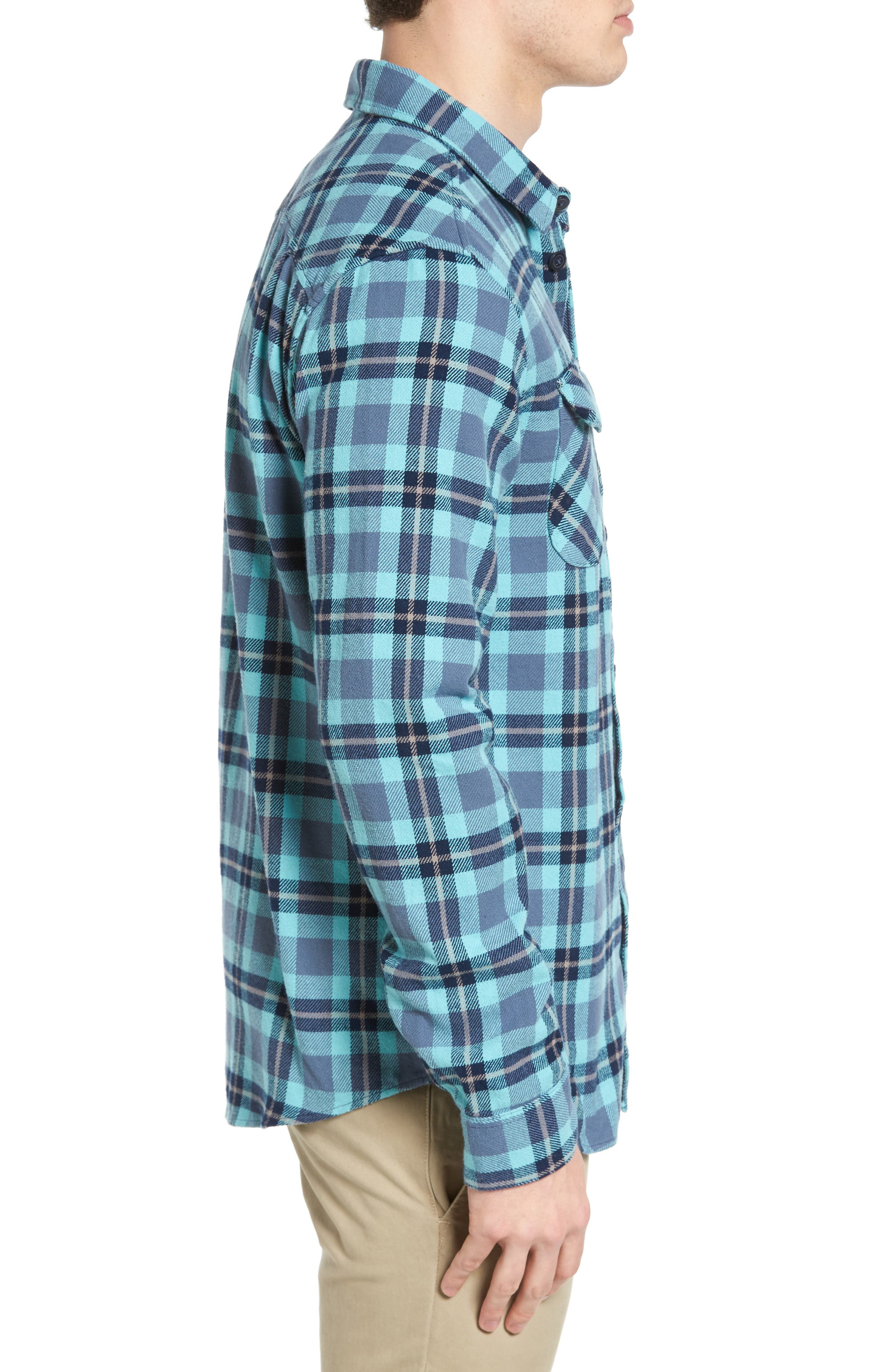 'That'll Work' Trim Fit Plaid Flannel Shirt,                             Alternate thumbnail 18, color,