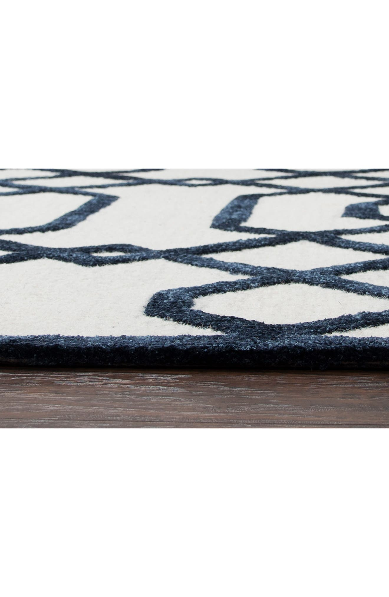 Lattice Scroll Hand Tufted Wool Area Rug,                             Alternate thumbnail 4, color,                             400