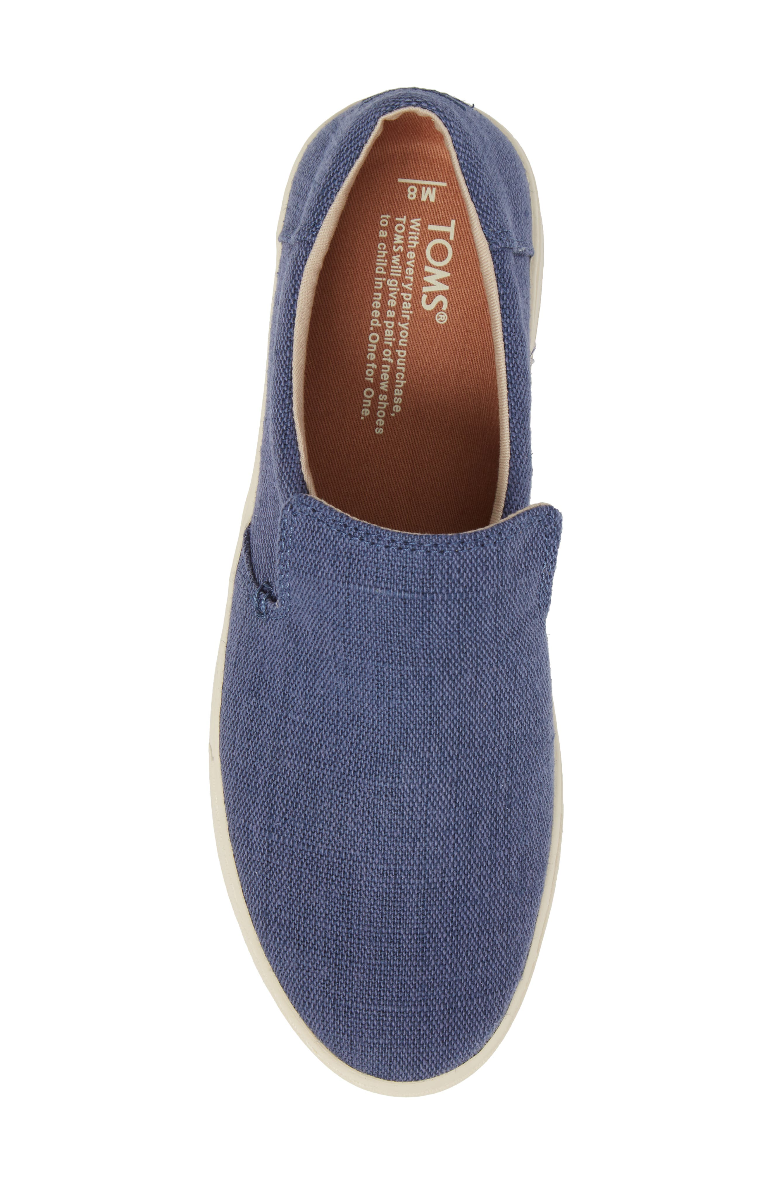 TOMS,                             Loma Slip-On Sneaker,                             Alternate thumbnail 5, color,                             CADET BLUE HERITAGE CANVAS