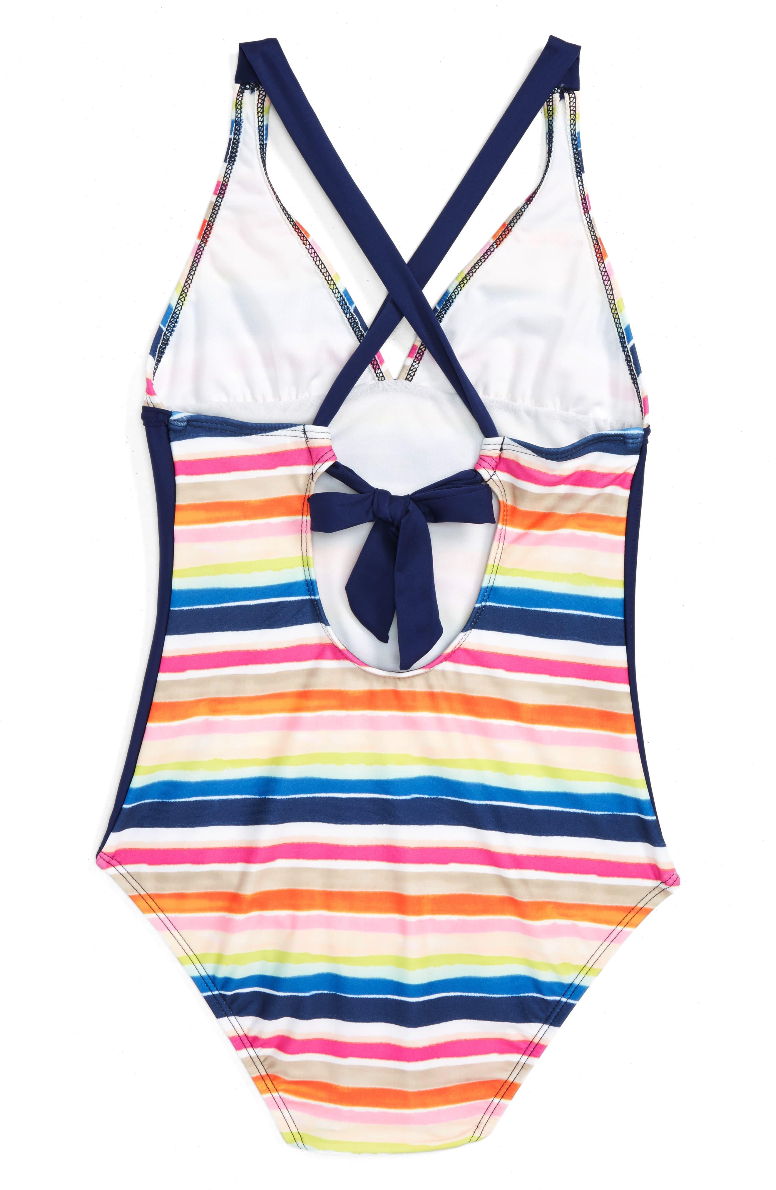 SPLENDID,                             Watercolor Horizon One-Piece Swimsuit,                             Main thumbnail 1, color,                             400