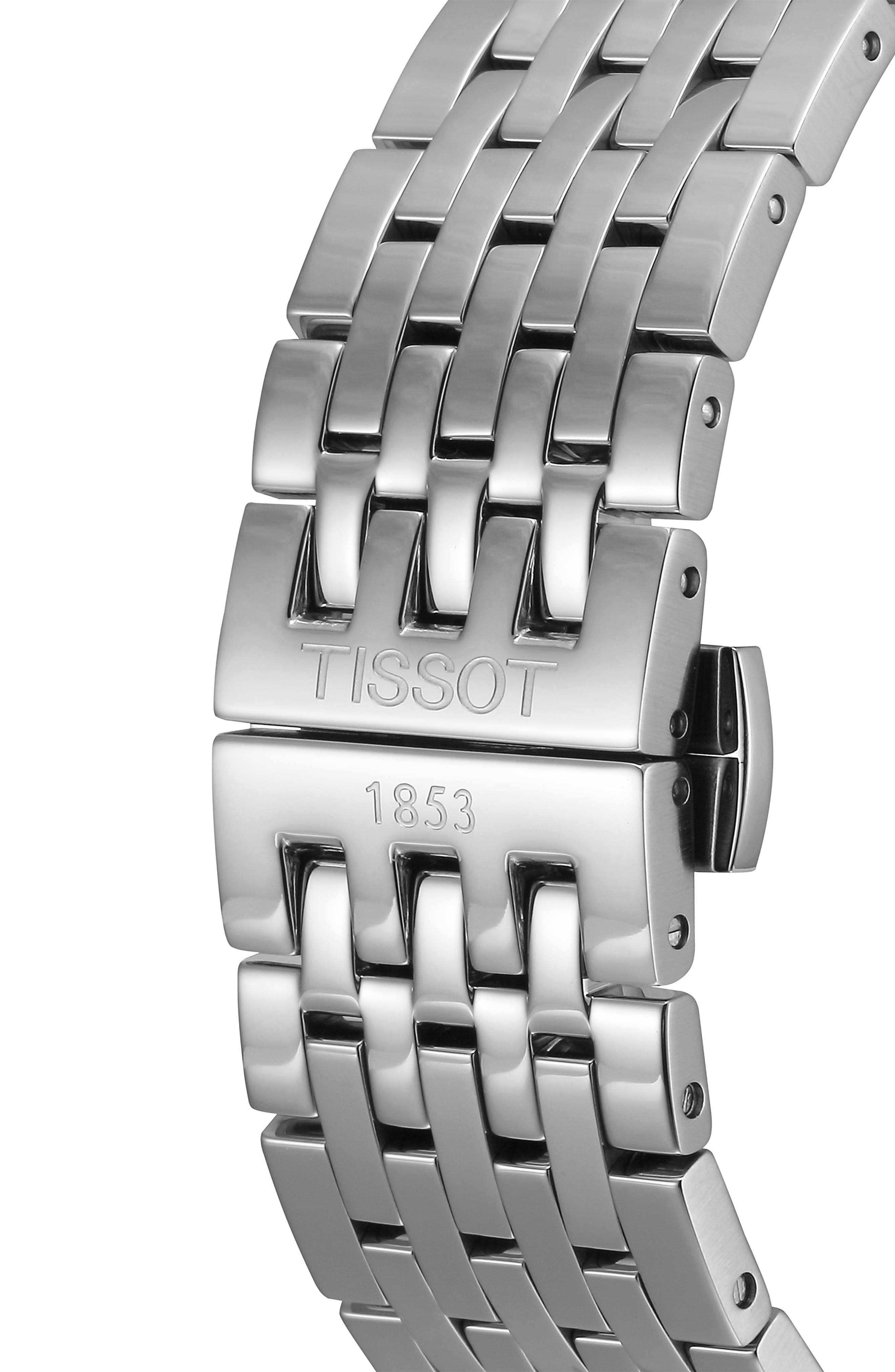 Tradition Bracelet Watch, 42mm,                             Alternate thumbnail 5, color,                             SILVER