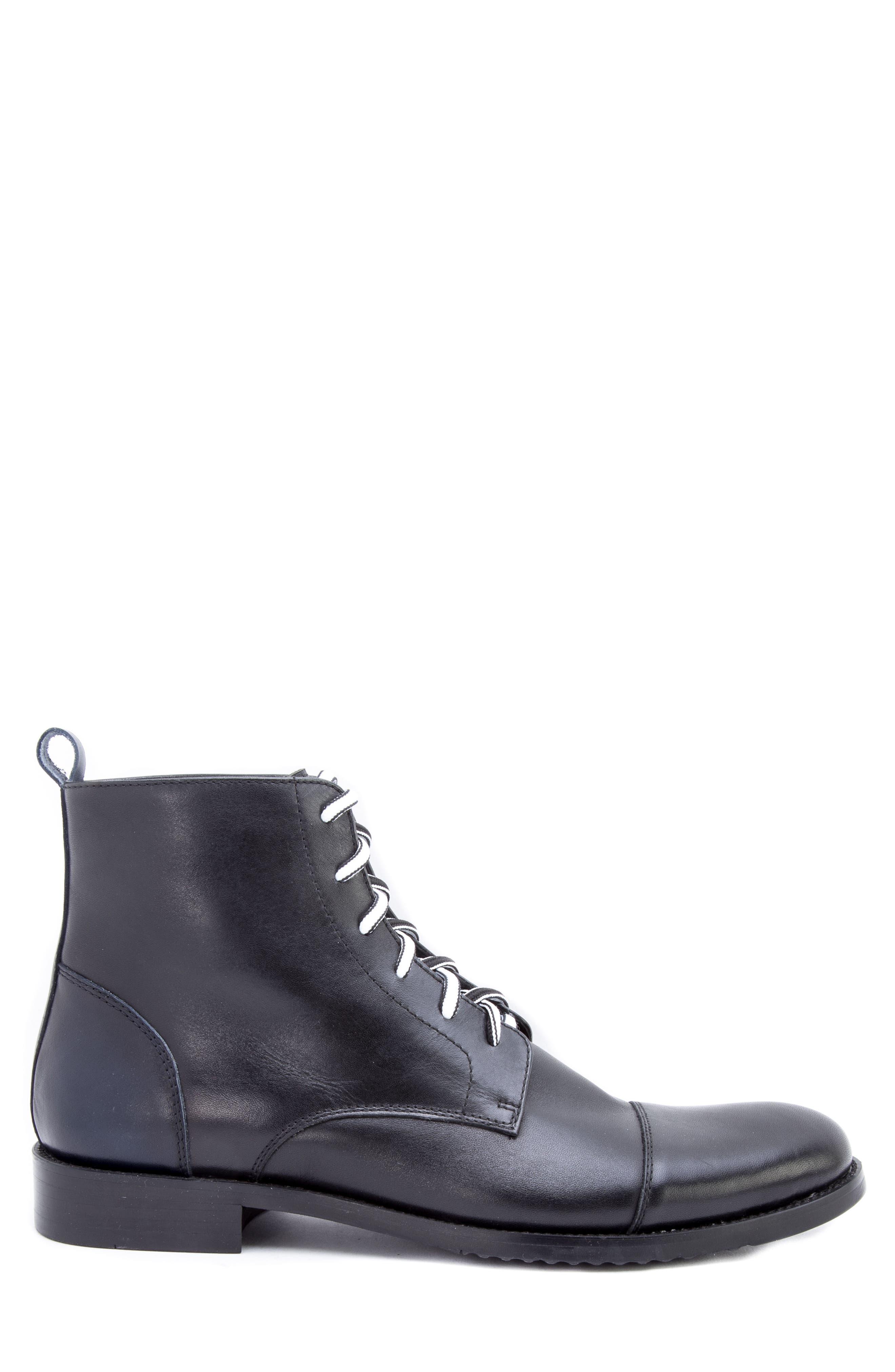 Lombardo Cap Toe Boot,                             Alternate thumbnail 3, color,                             001
