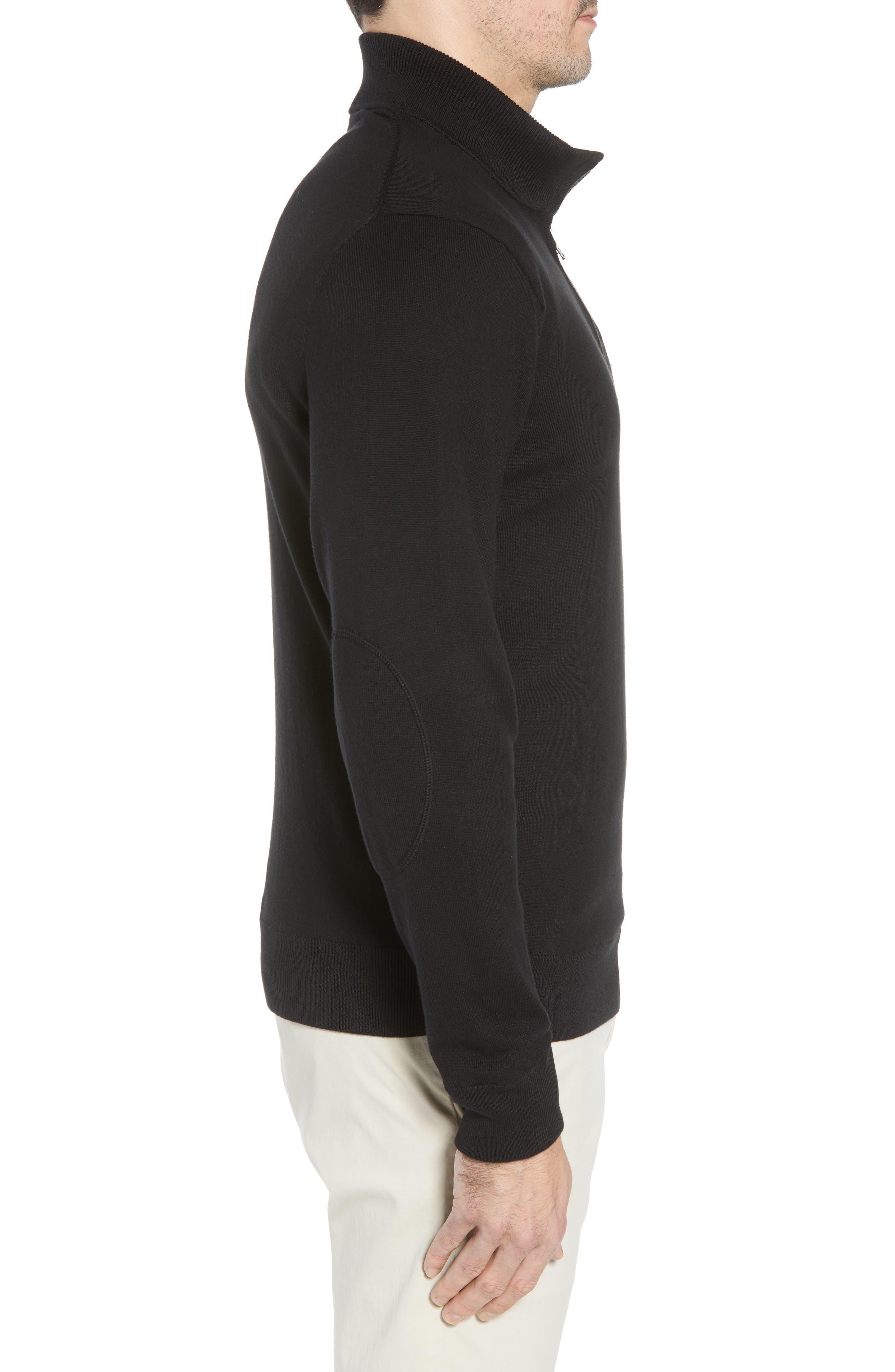 Cincinnati Bengals - Lakemont Regular Fit Quarter Zip Sweater,                             Alternate thumbnail 3, color,                             001