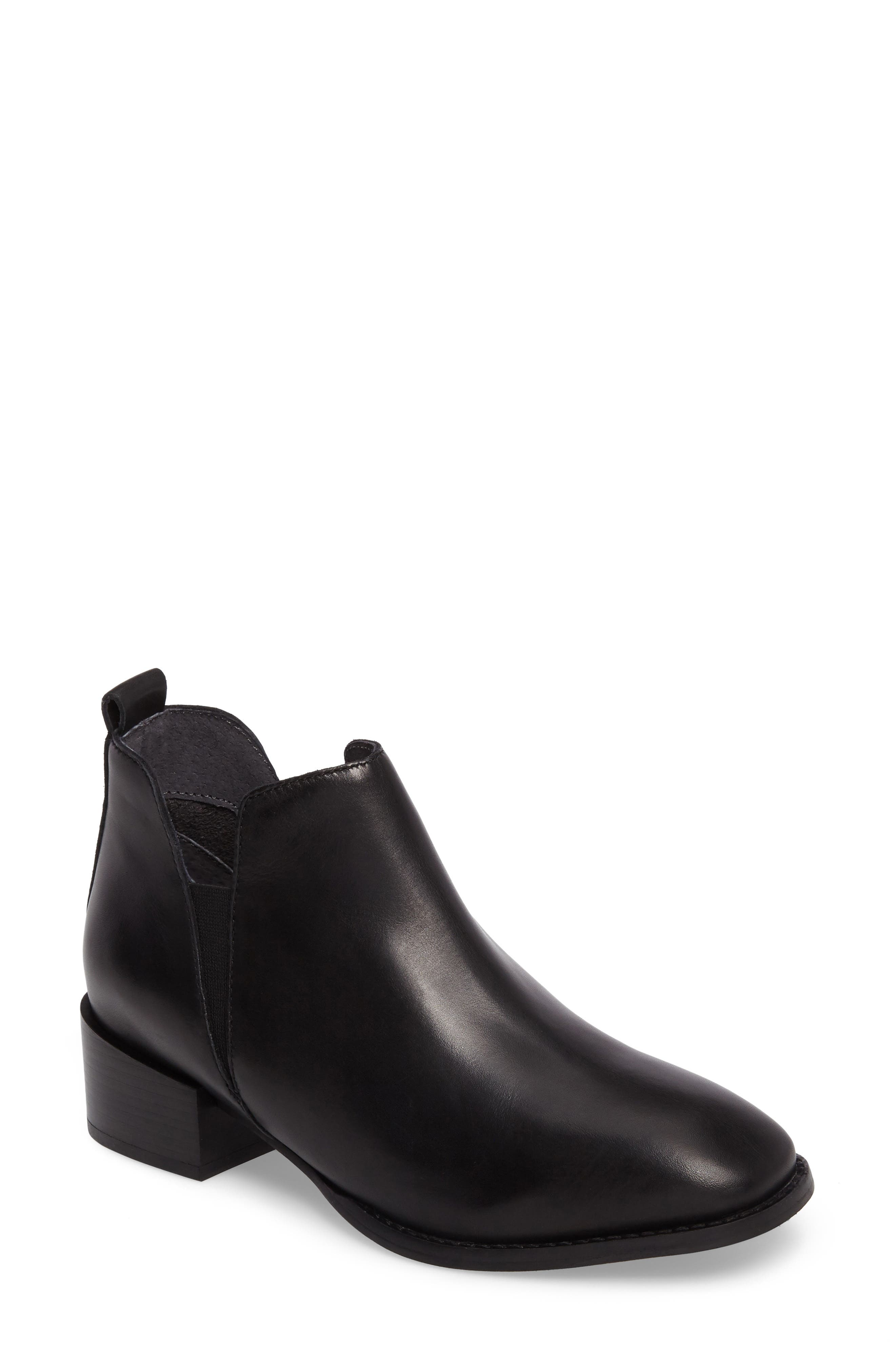 Offstage Boot,                             Main thumbnail 1, color,                             BLACK LEATHER