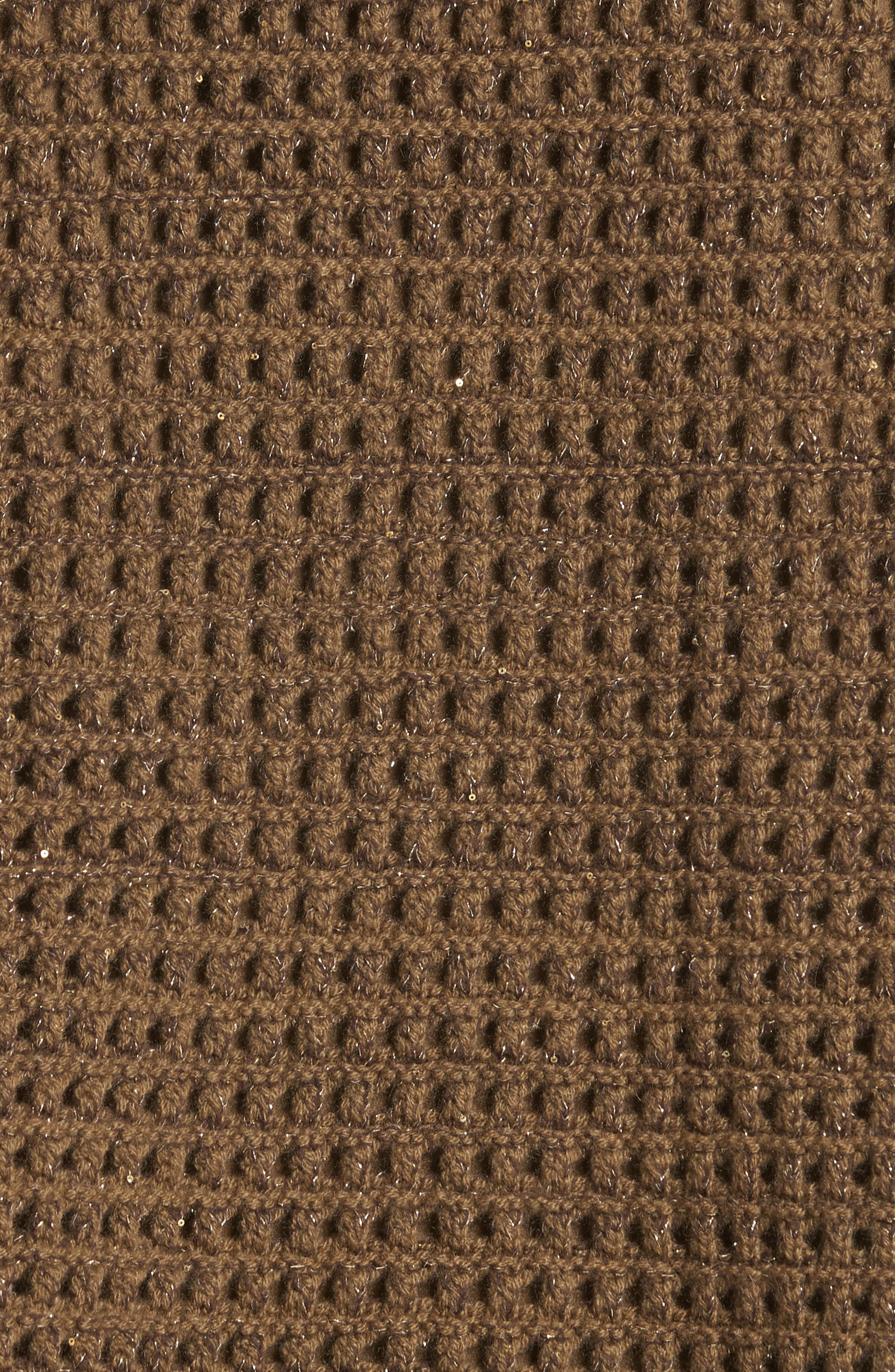 Cashmere Open Stitch Sequin Sweater,                             Alternate thumbnail 5, color,                             242
