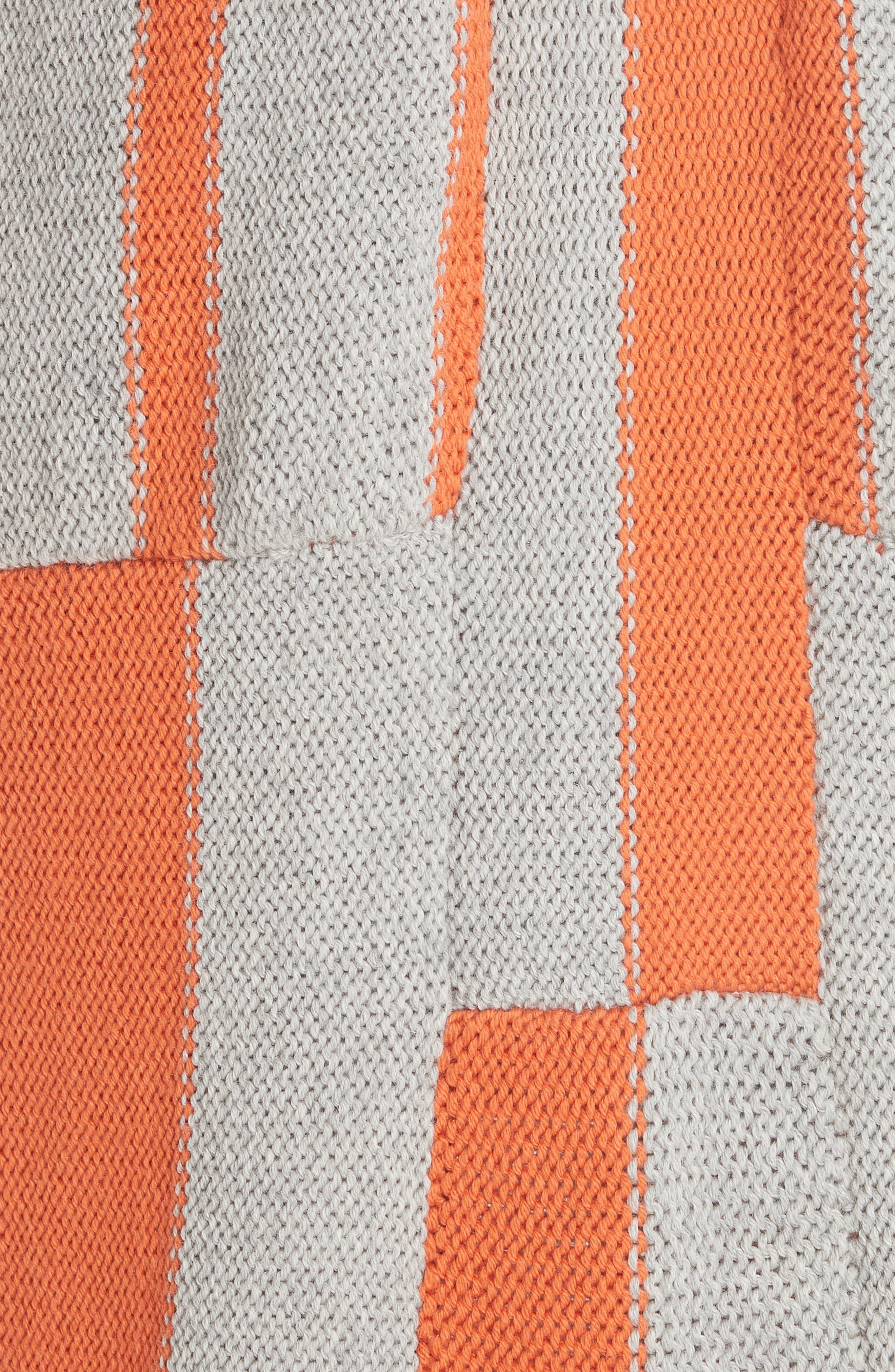Stripe Tassel Hem Sweater Dress,                             Alternate thumbnail 6, color,                             GROG - GREY ORANGE