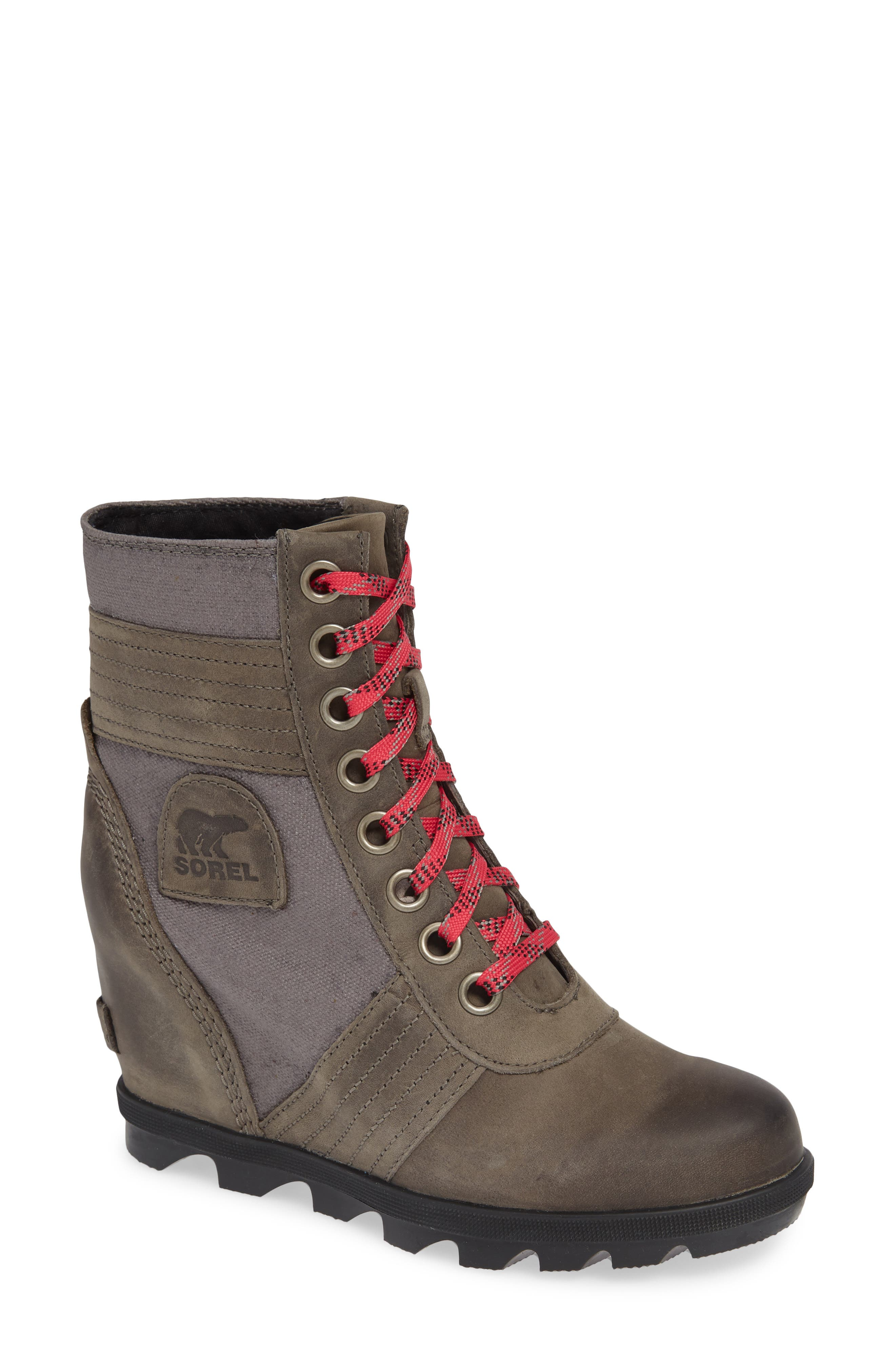 Sorel Lexie Wedge Waterproof Boot- Brown