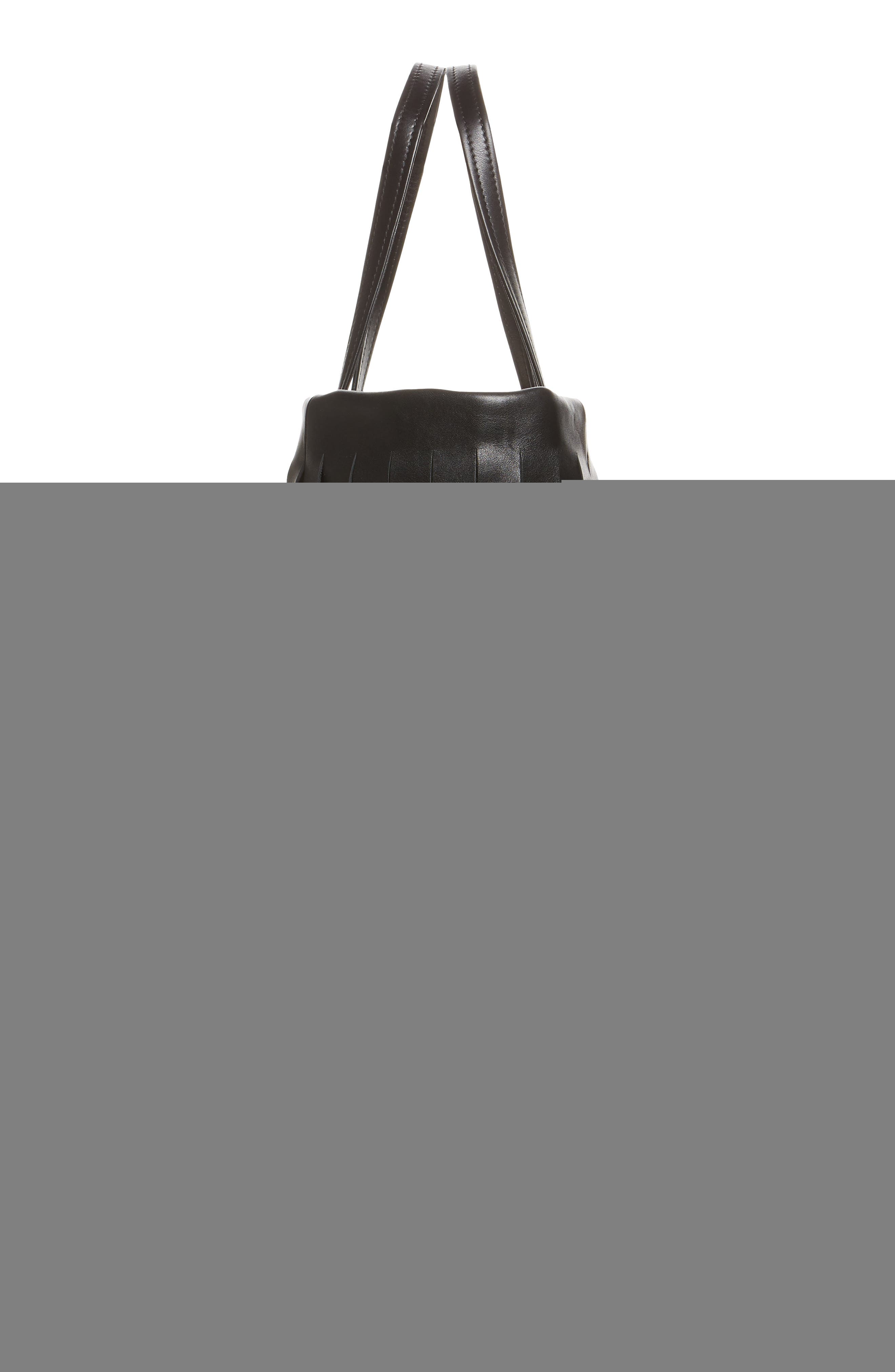 Small Laundry Cabas Fringe Calfskin Tote,                             Alternate thumbnail 5, color,                             011
