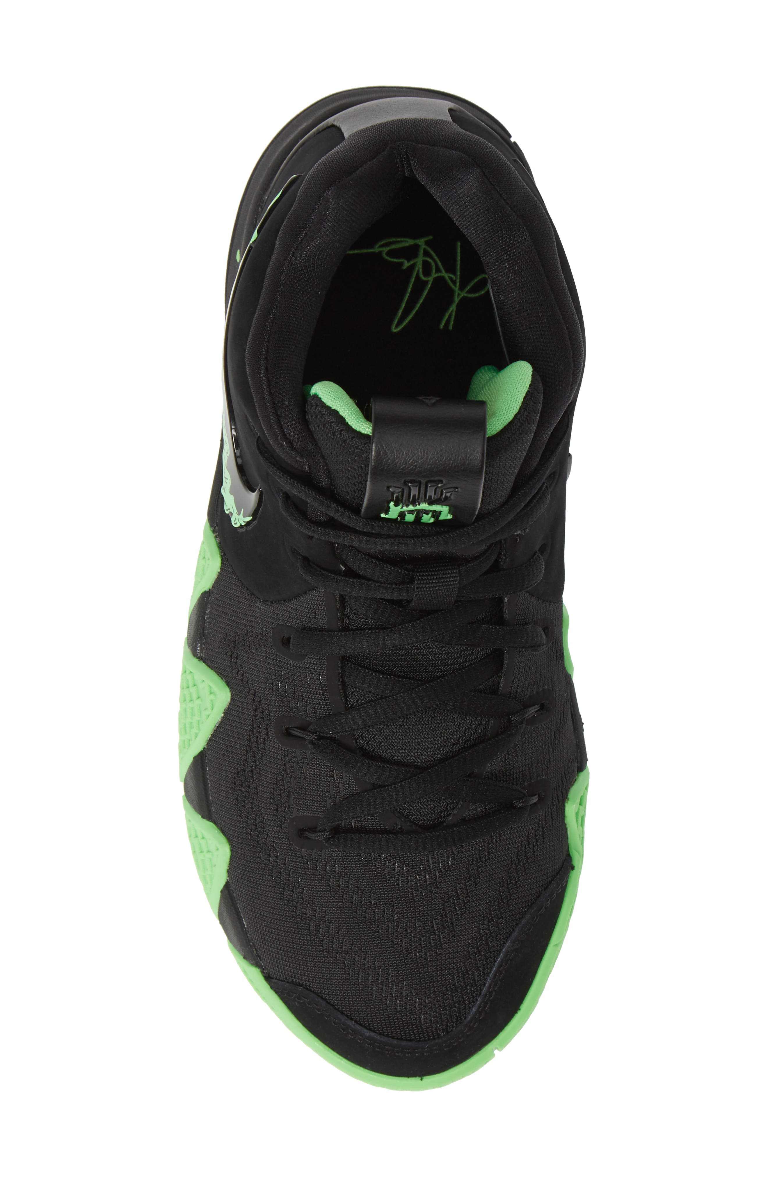 Kyrie 4 Basketball Shoe,                             Alternate thumbnail 5, color,                             BLACK/ RAGE GREEN