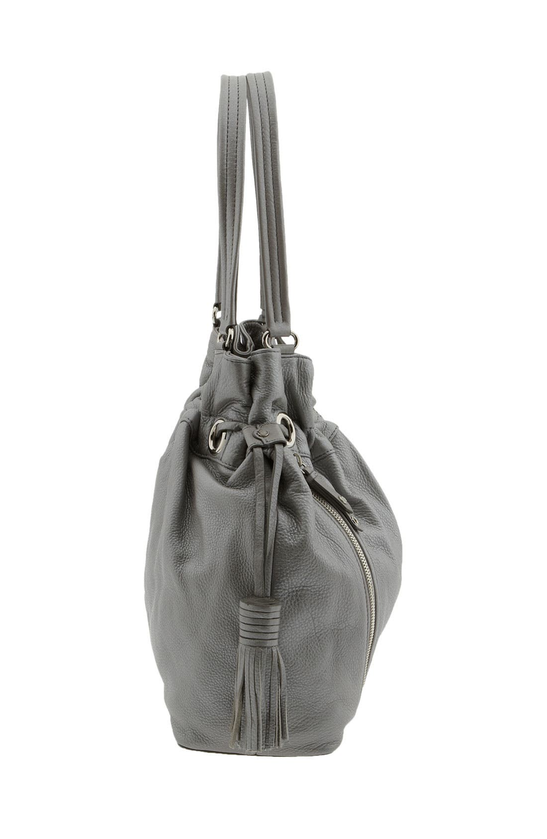 'Bailey' Pebbled Leather Drawstring Tote,                             Alternate thumbnail 19, color,