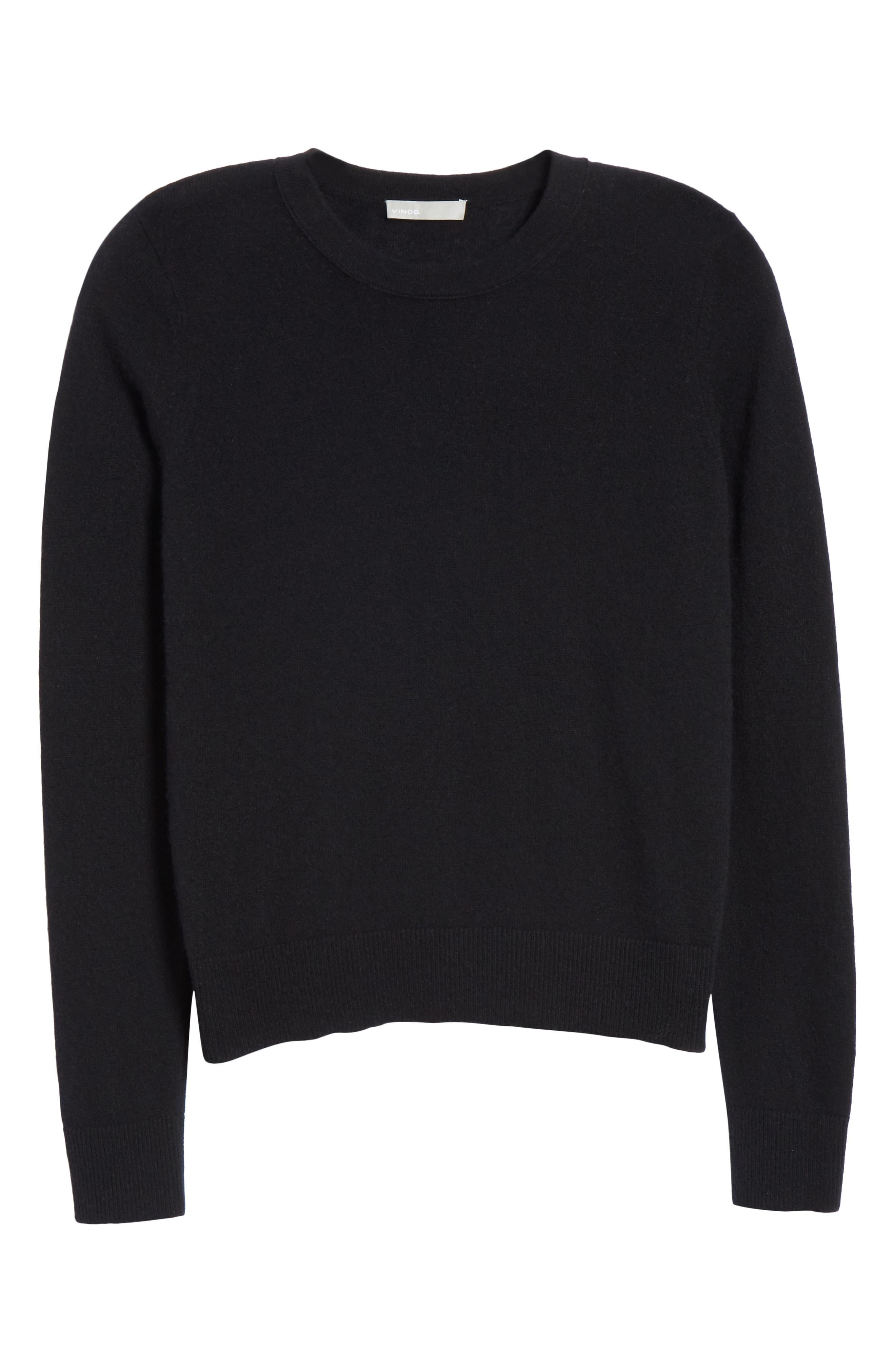 Cashmere Sweater,                             Alternate thumbnail 6, color,                             BLACK