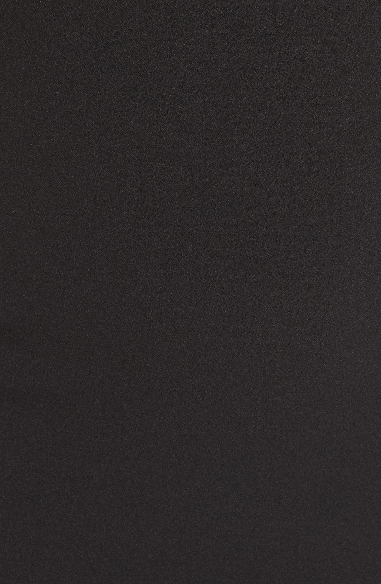 Flutter Sleeve Shift Dress,                             Alternate thumbnail 5, color,                             001