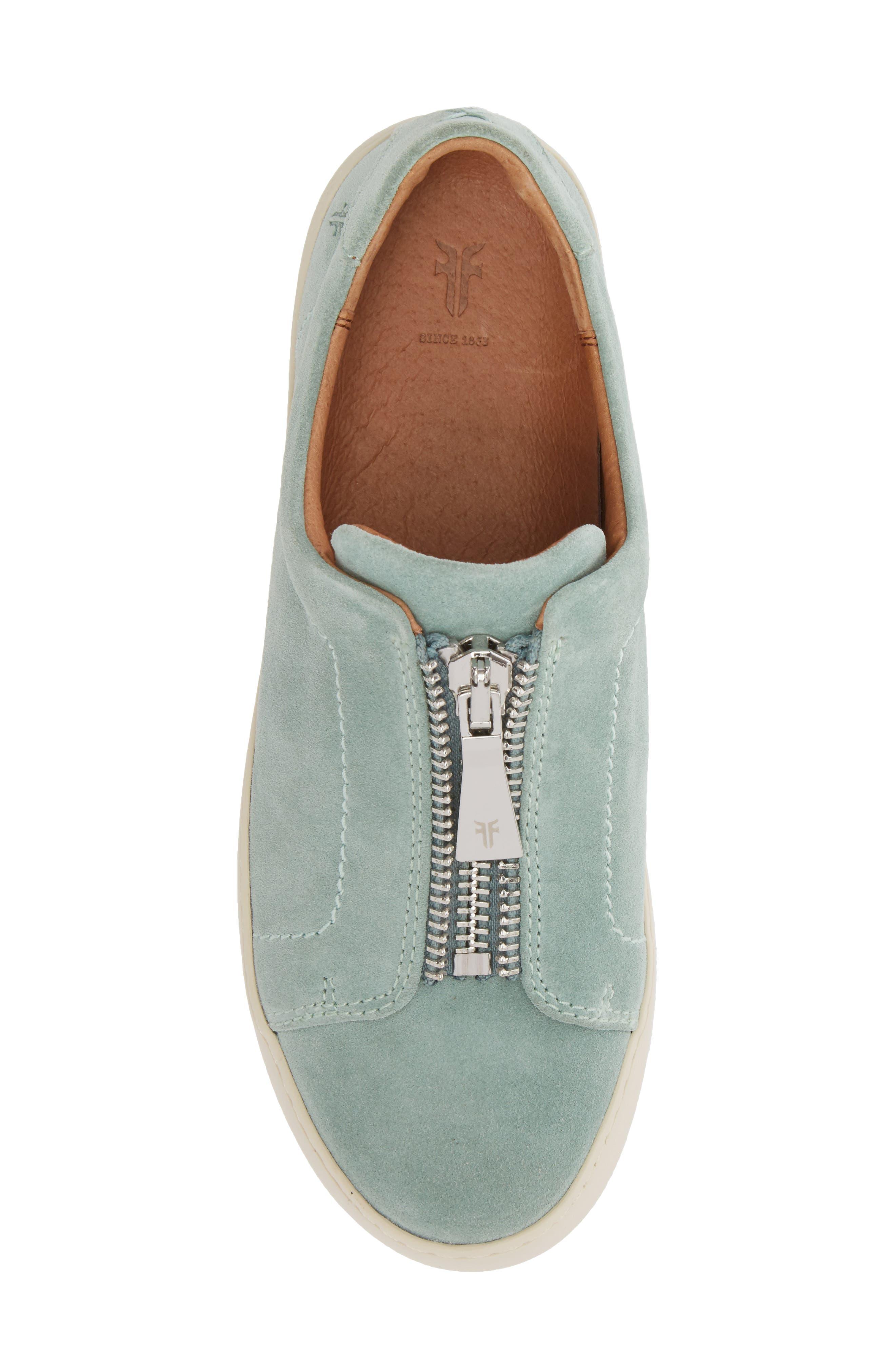 Lena Zip Sneaker,                             Alternate thumbnail 5, color,                             MINT SUEDE