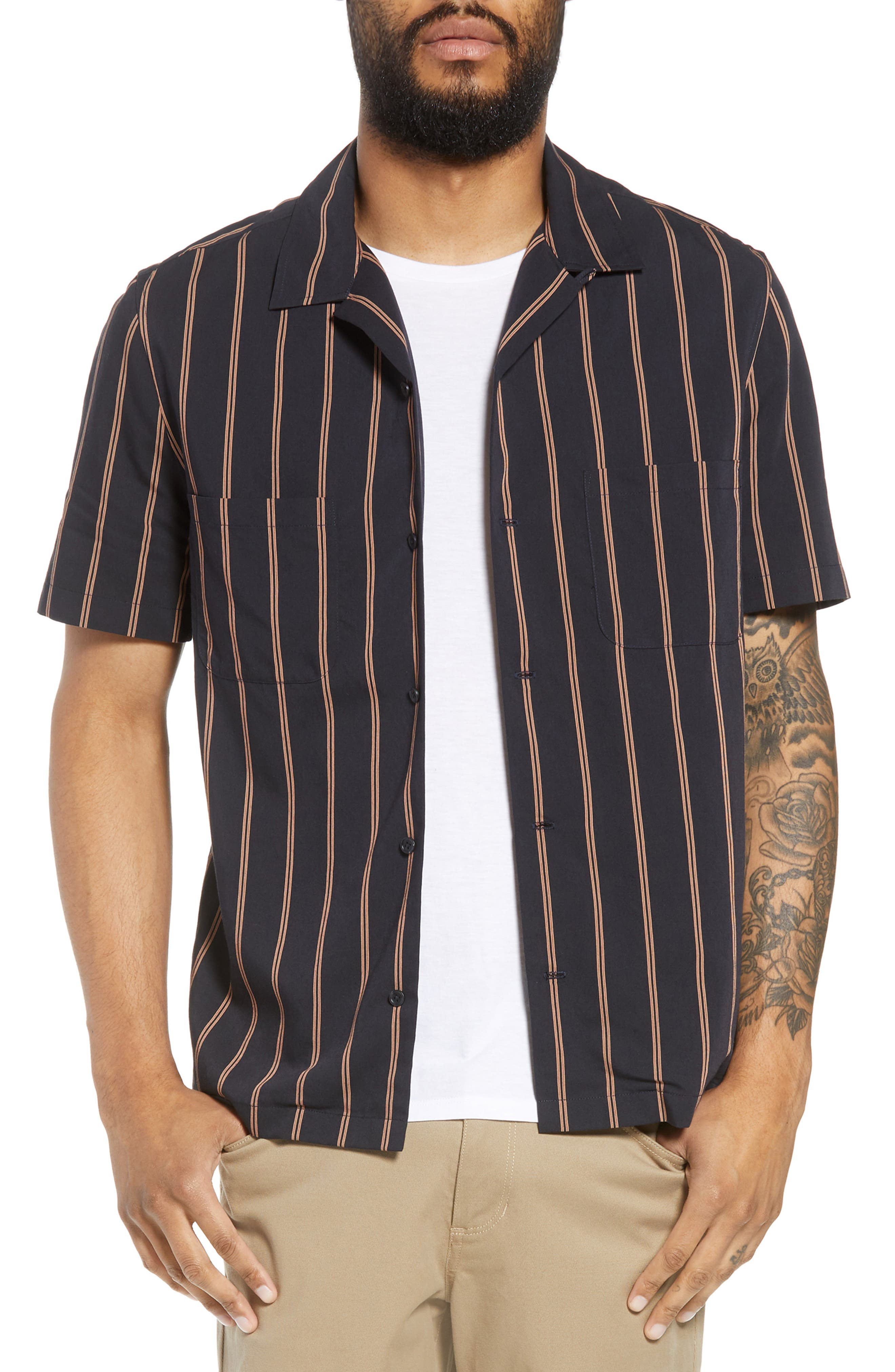 VINCE Classic Vintage Cabana Shirt, Main, color, 463