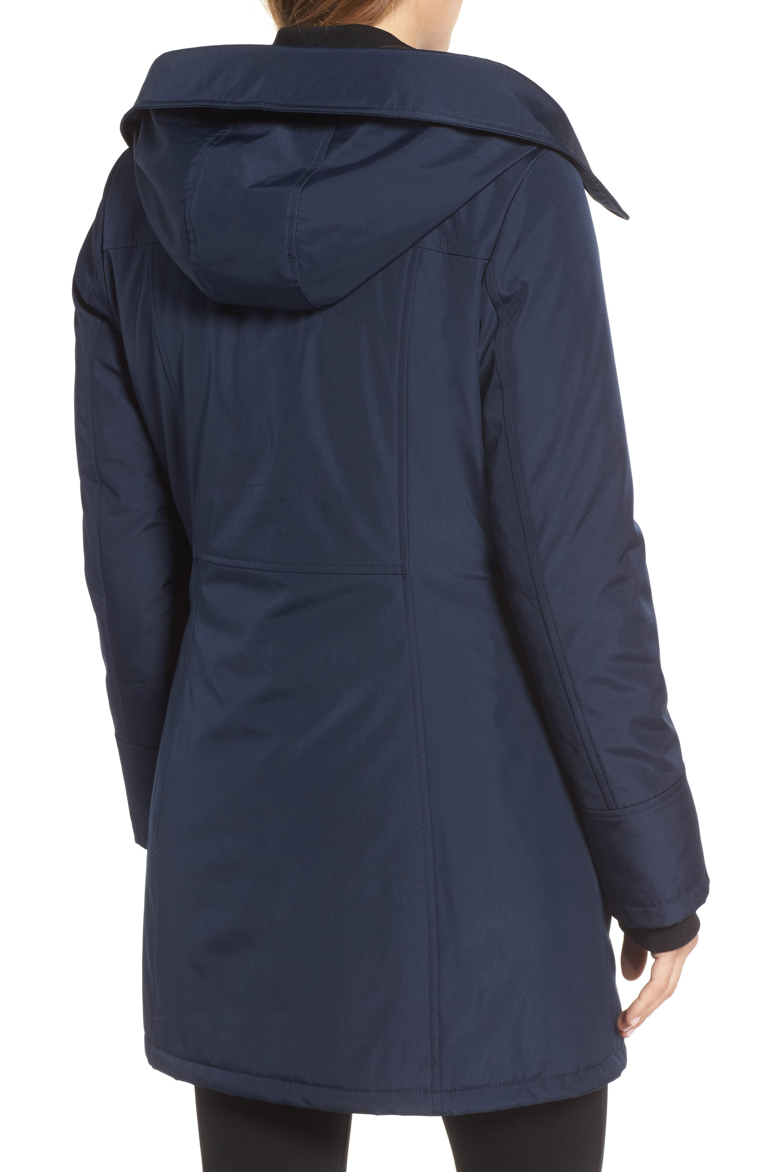 Quilted Techno Parka,                             Alternate thumbnail 4, color,