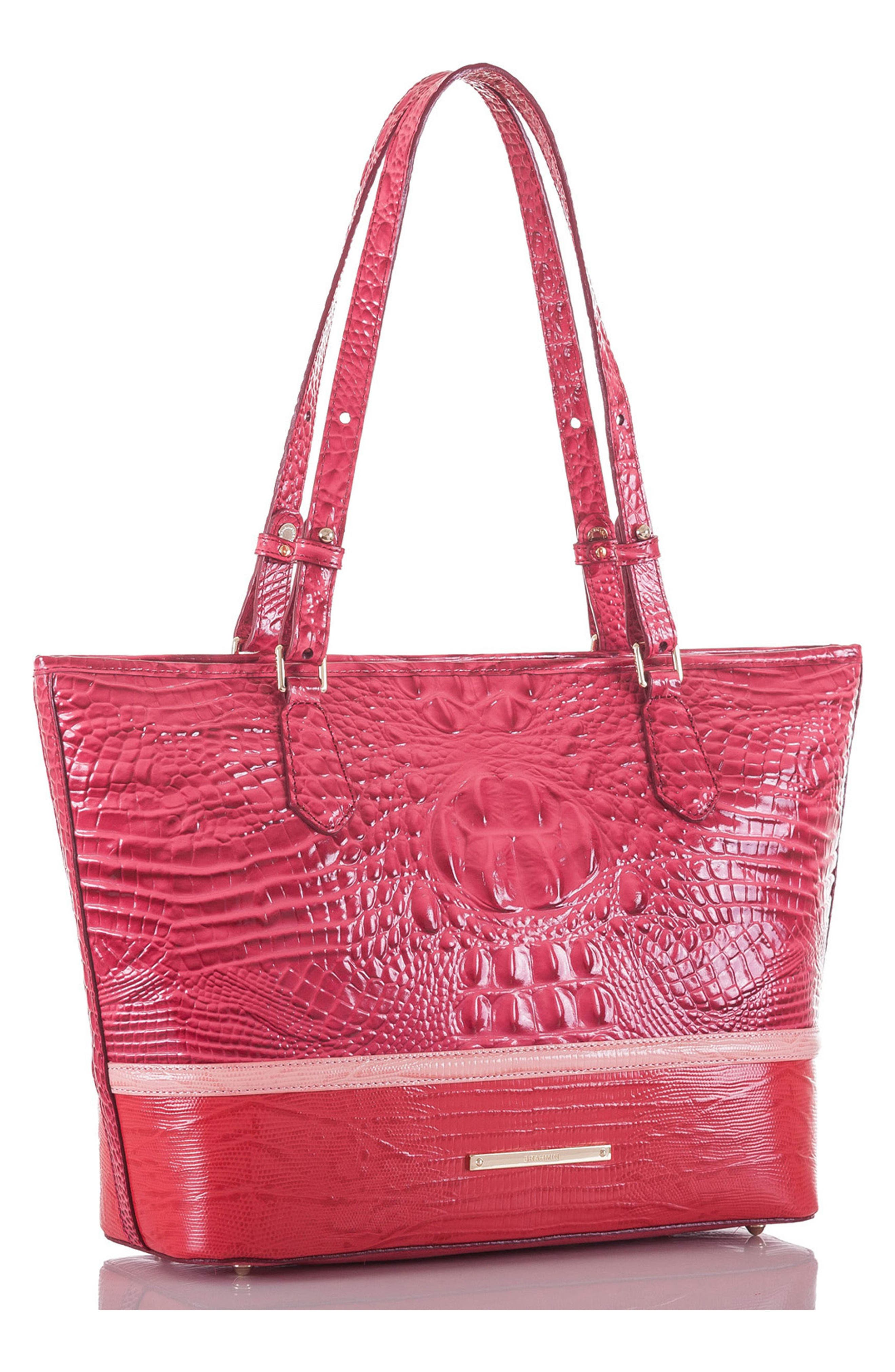 Medium Asher Embossed Leather Tote,                             Alternate thumbnail 4, color,                             650