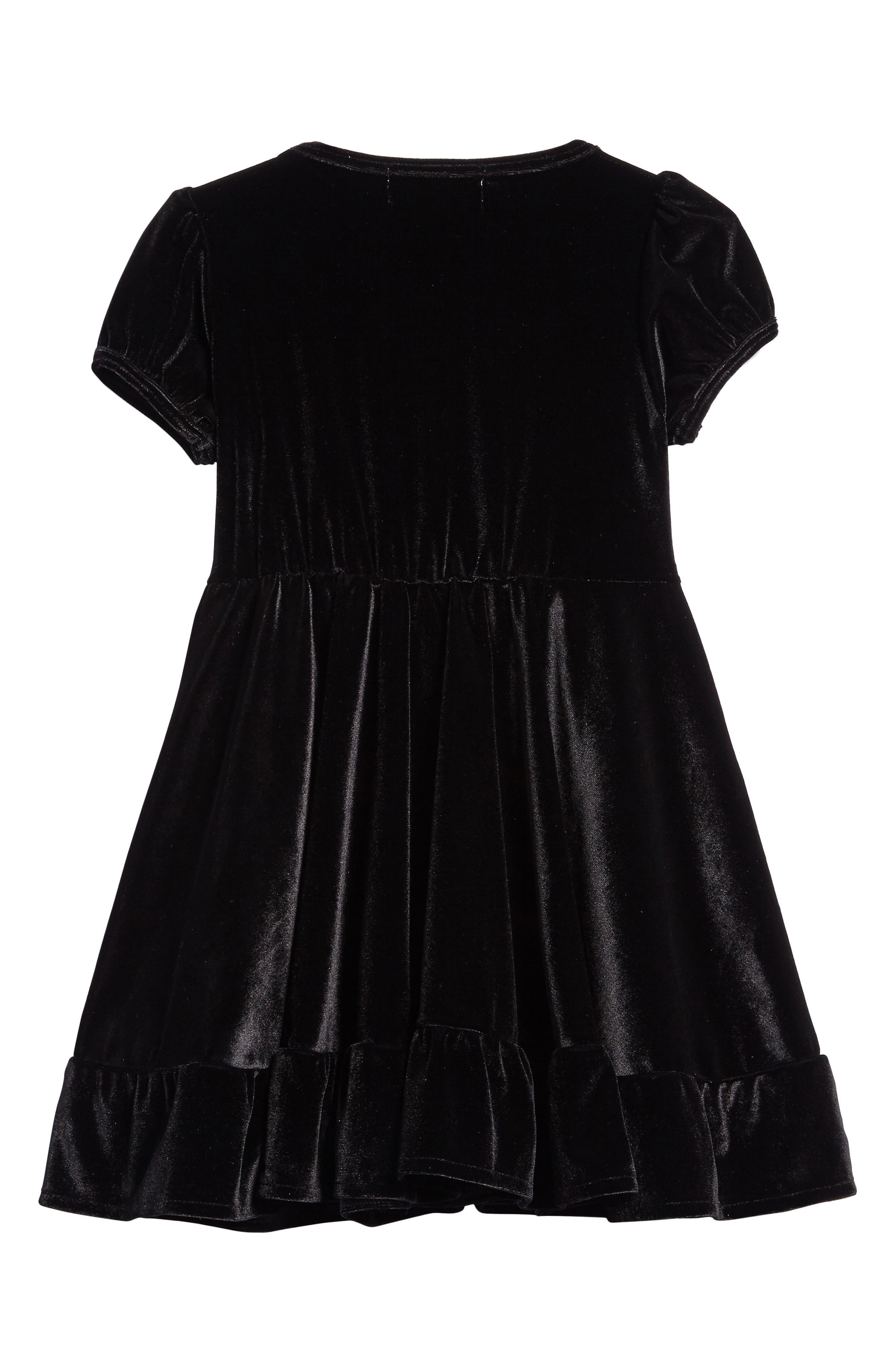 North Star Velvet Dress,                             Alternate thumbnail 2, color,                             001