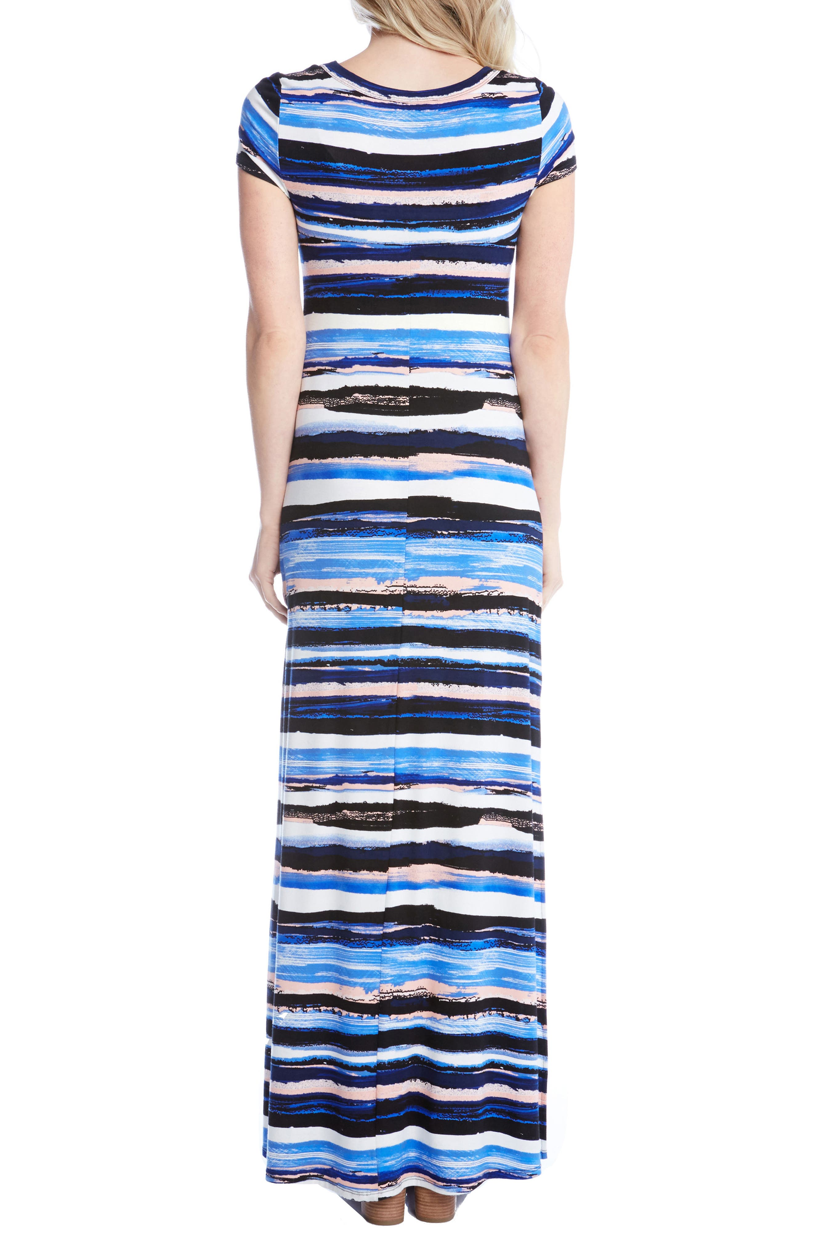 Painted Stripe Maxi Dress,                             Alternate thumbnail 2, color,                             460