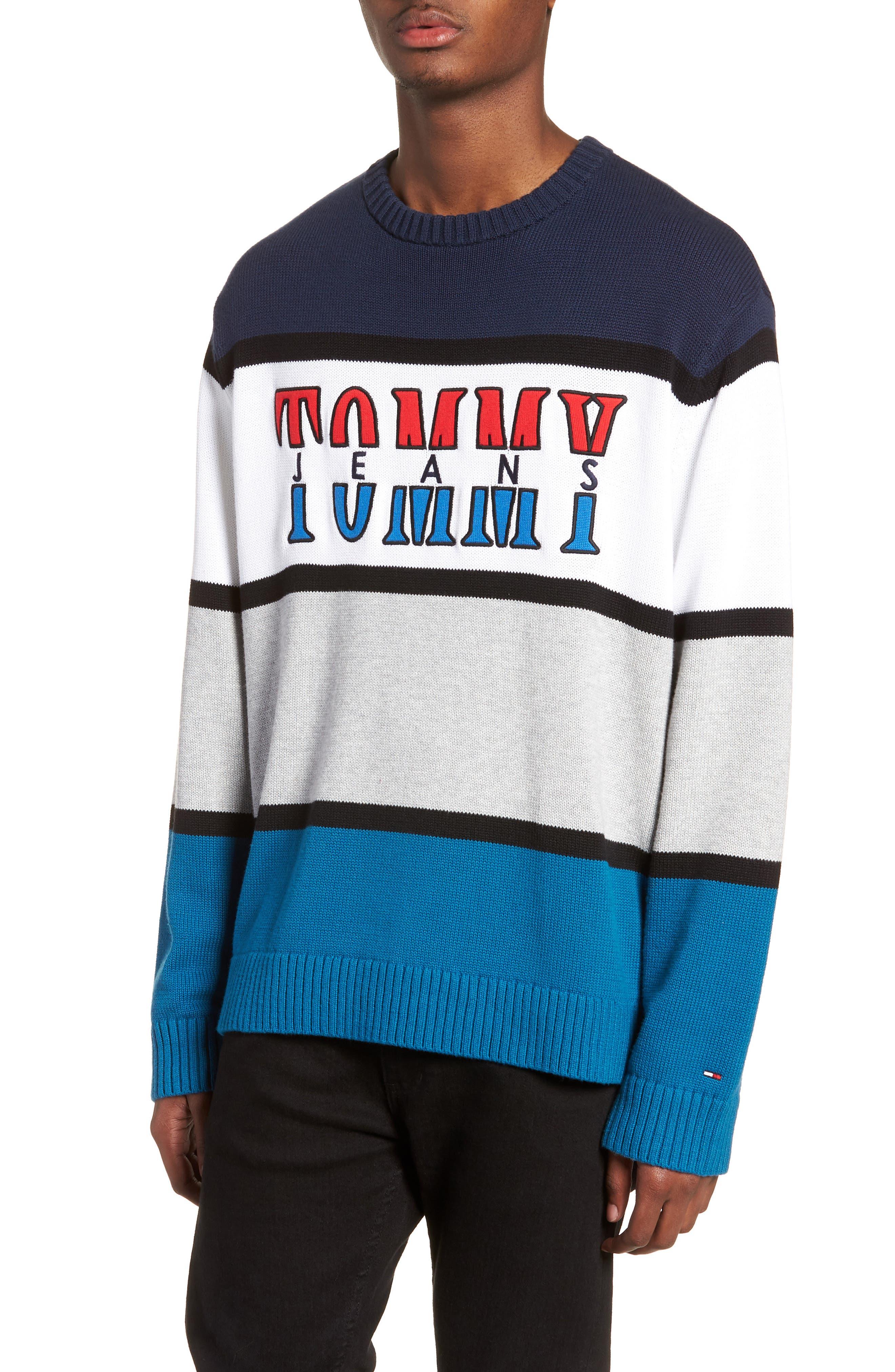 Retro Colorblock Sweater,                             Main thumbnail 1, color,                             400