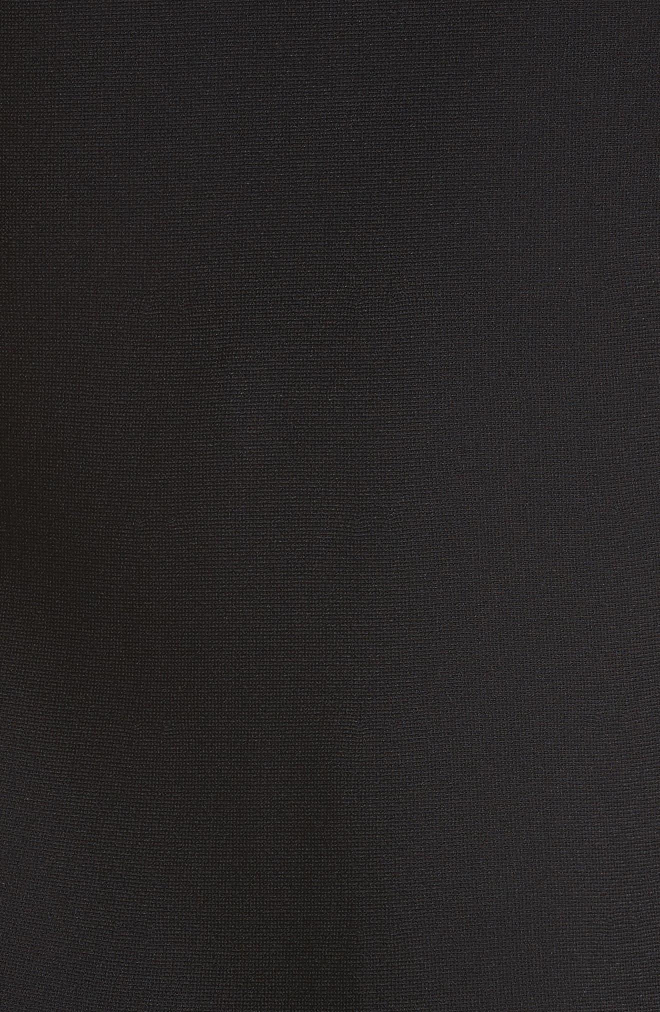 Chevron Lace Knit Dress,                             Alternate thumbnail 5, color,                             001