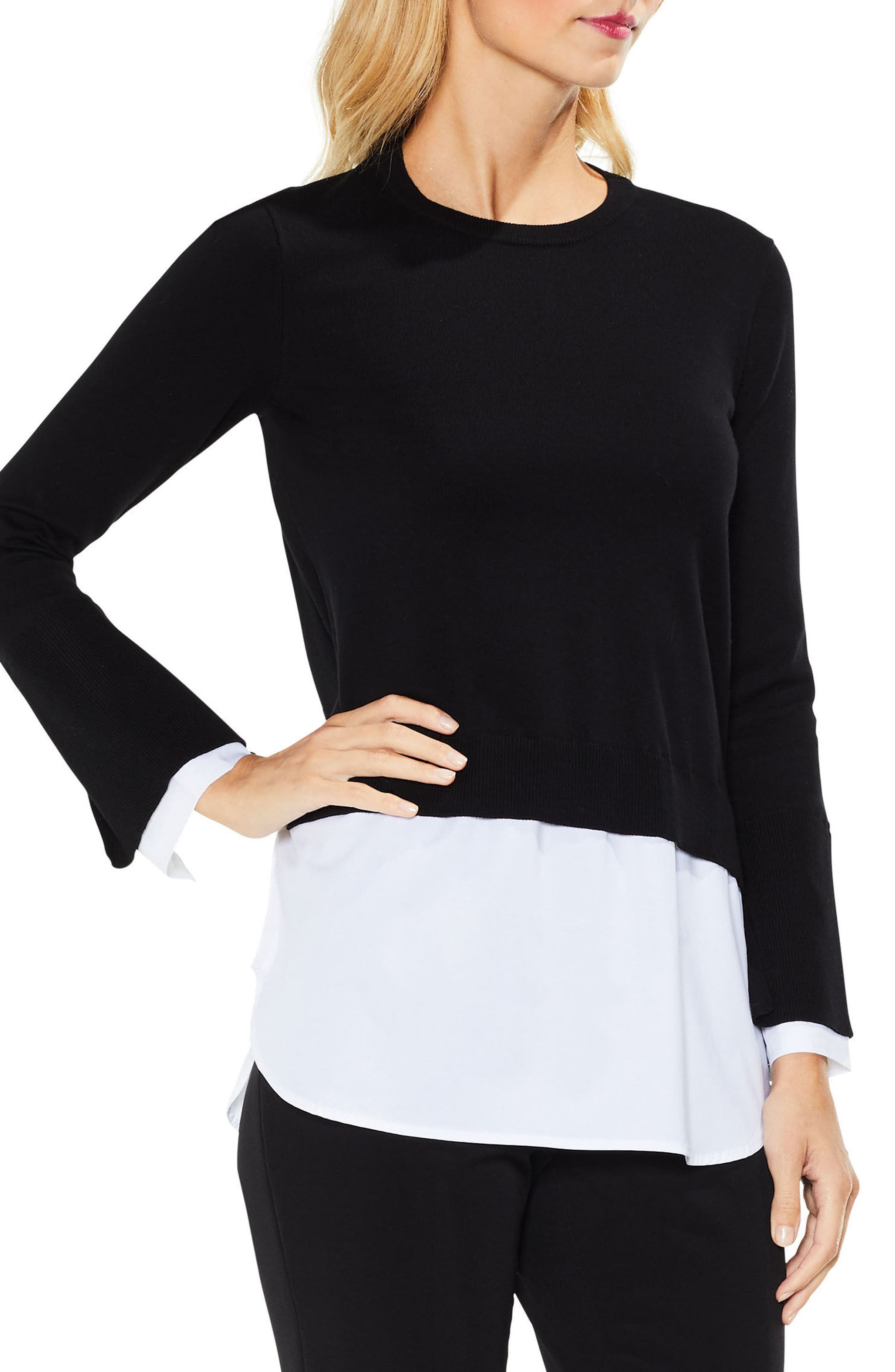 Layered Look Sweater,                         Main,                         color, 006