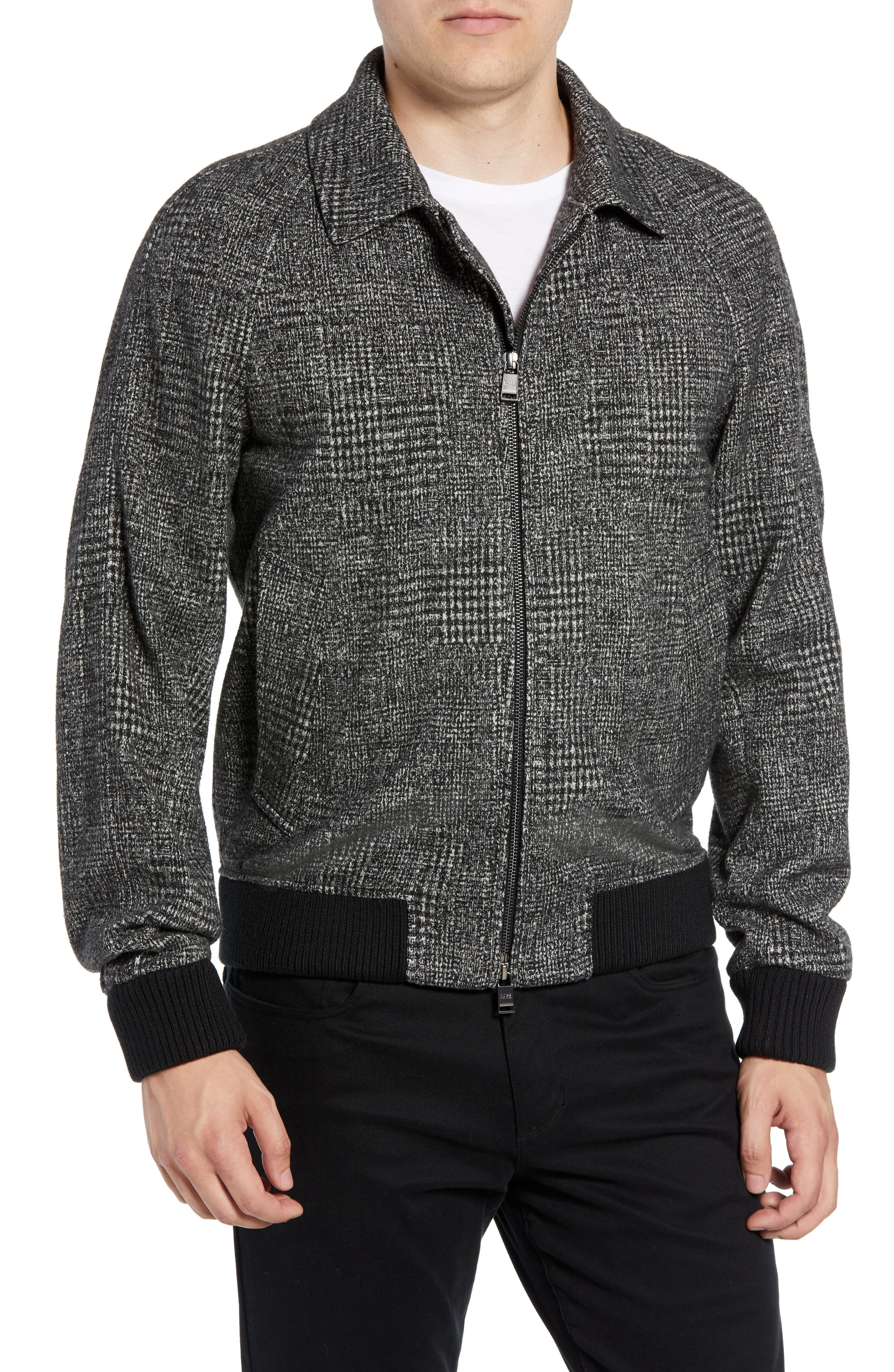 T-Cony Relaxed Fit Wool Blend Jacket,                         Main,                         color, GREY