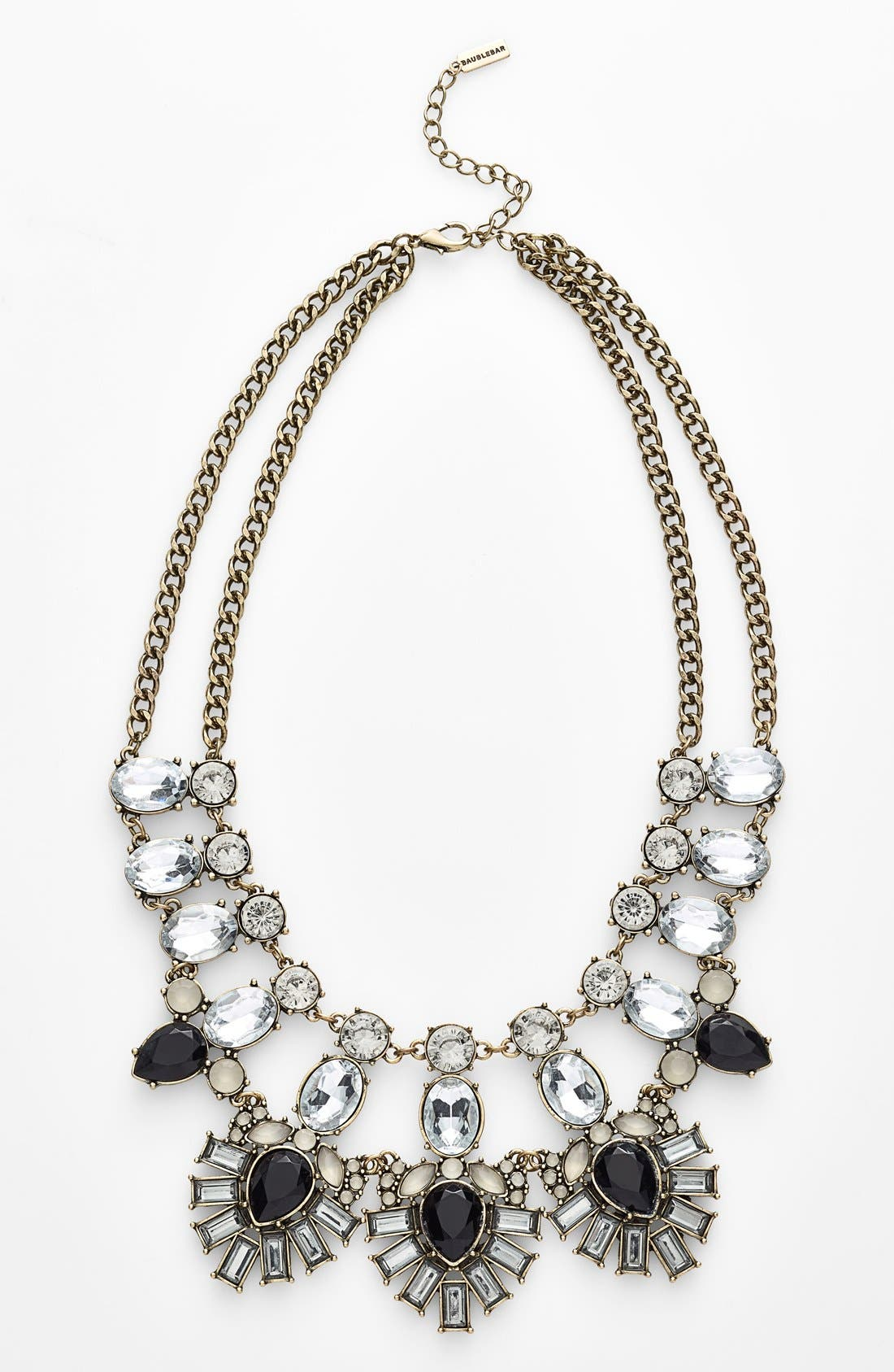 'Drama' Mixed Stone Statement Necklace,                             Main thumbnail 1, color,                             001
