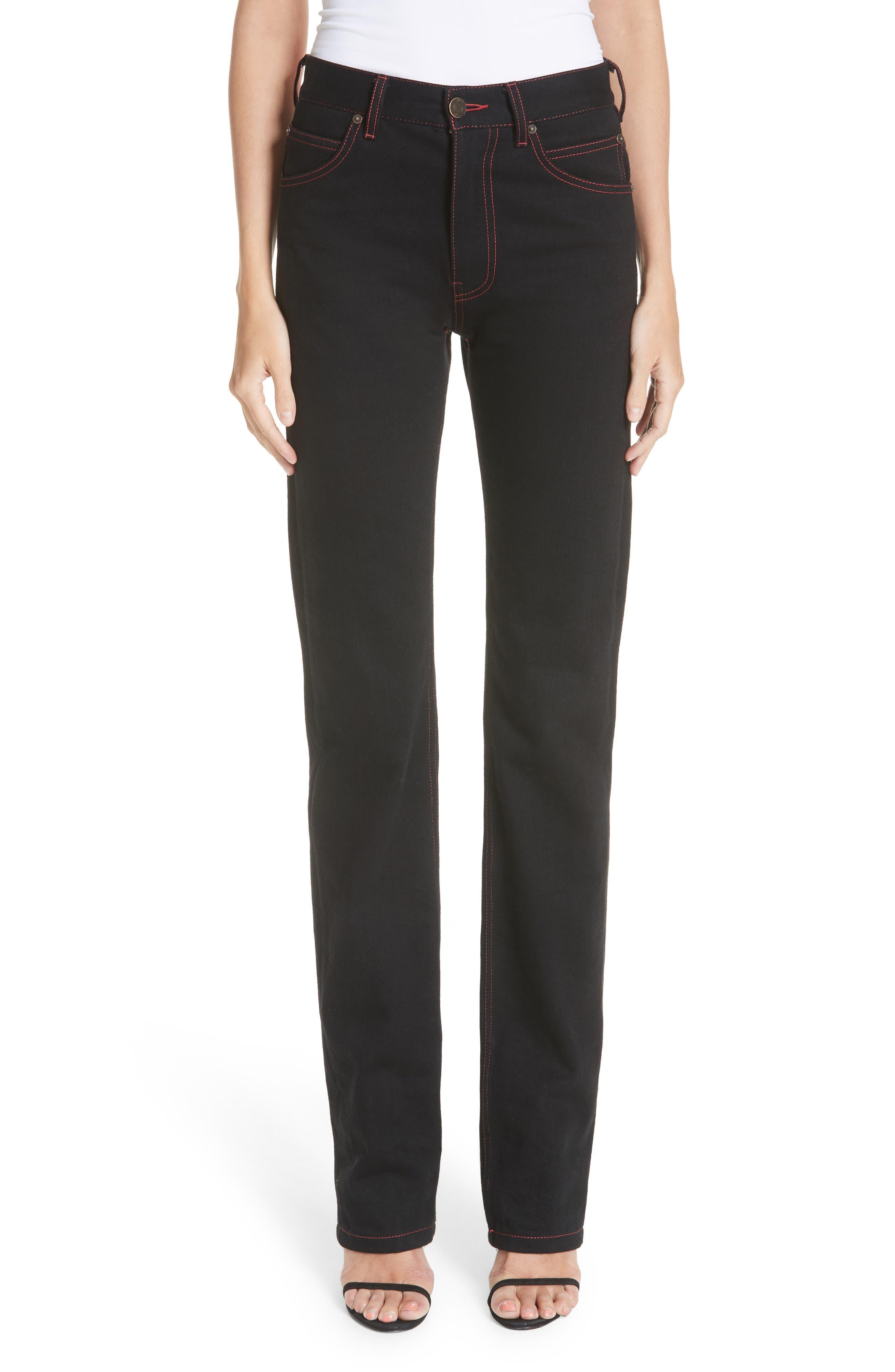 x Andy Warhol Foundation Dennis Hopper Straight Leg Jeans,                             Main thumbnail 1, color,                             BLACK