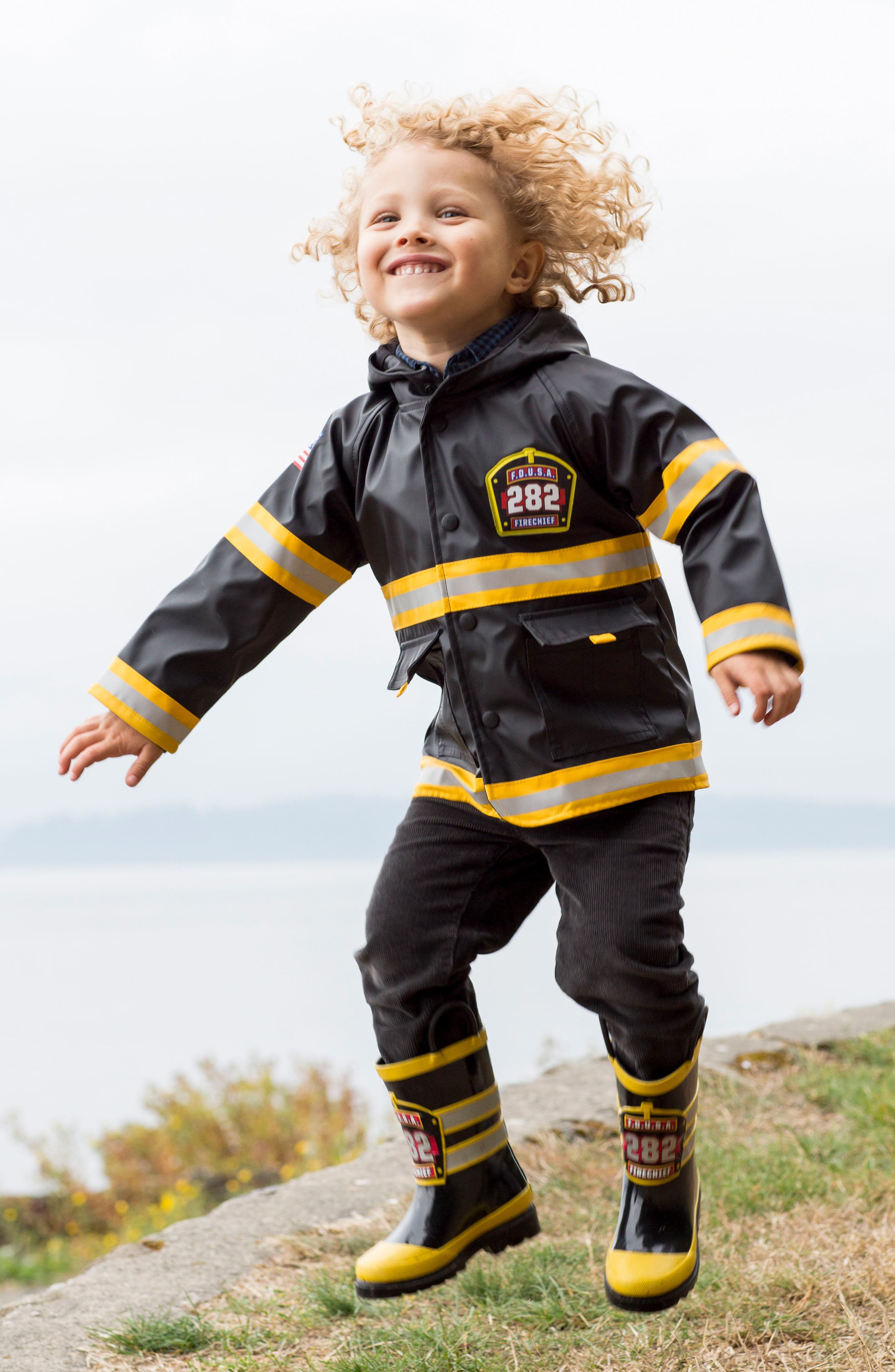 WESTERN CHIEF,                             Fire Chief Raincoat,                             Alternate thumbnail 4, color,                             BLACK