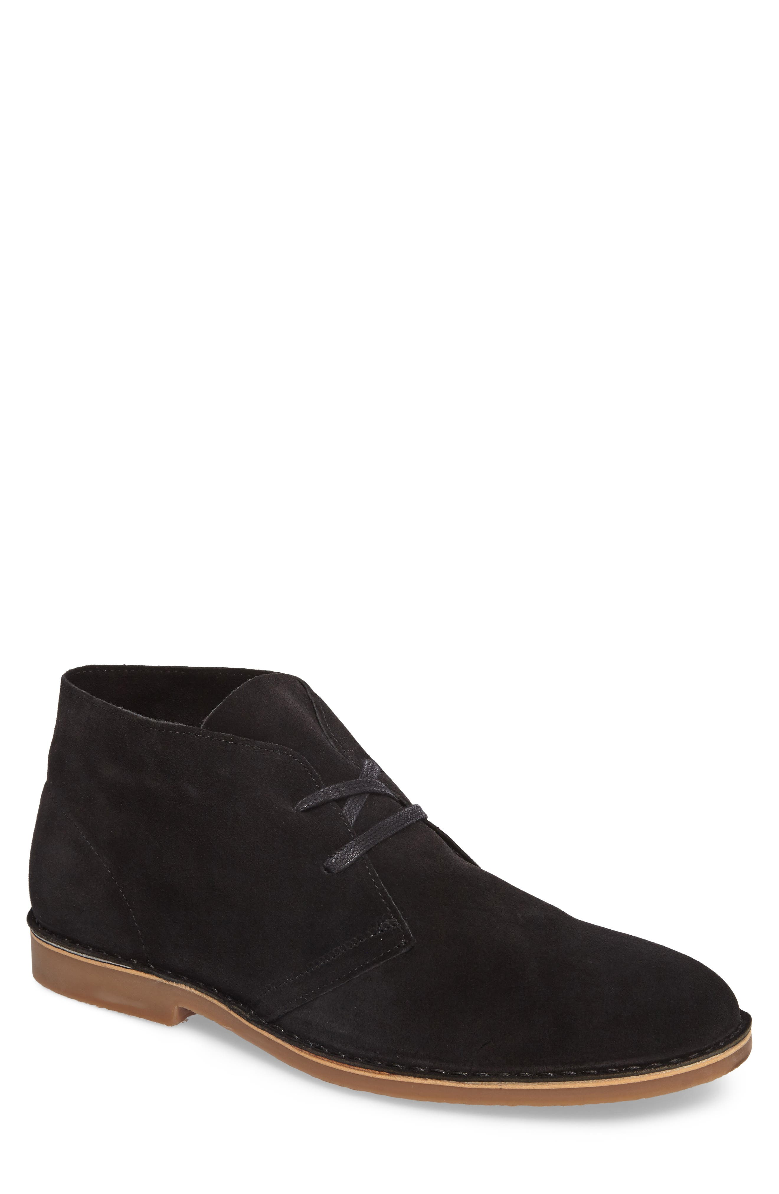 SUPPLY LAB Beau Chukka Boot in Black Suede