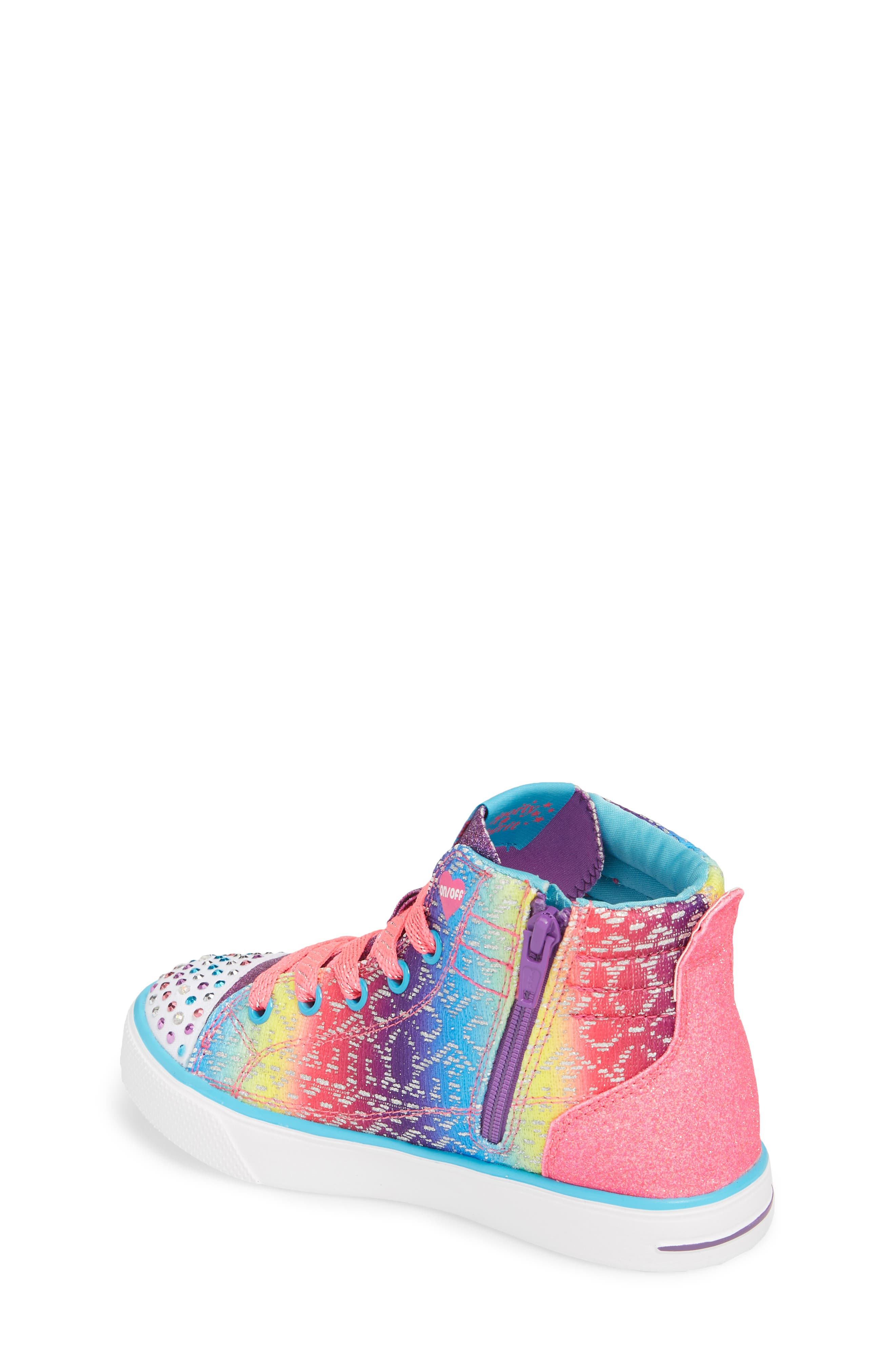 Twinkle Toes Breeze 2.0 Light-Up High Top Sneaker,                             Alternate thumbnail 2, color,                             484