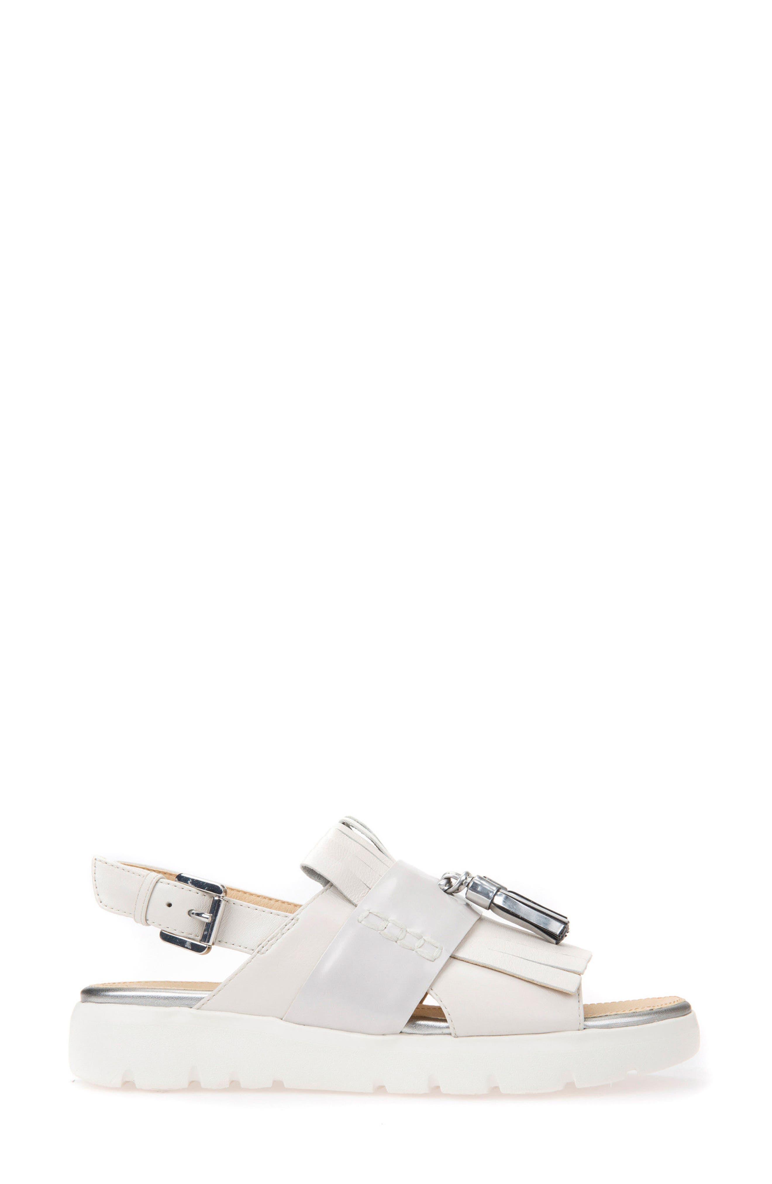 Amalitha Platform Sandal,                             Alternate thumbnail 3, color,                             OFF WHITE LEATHER