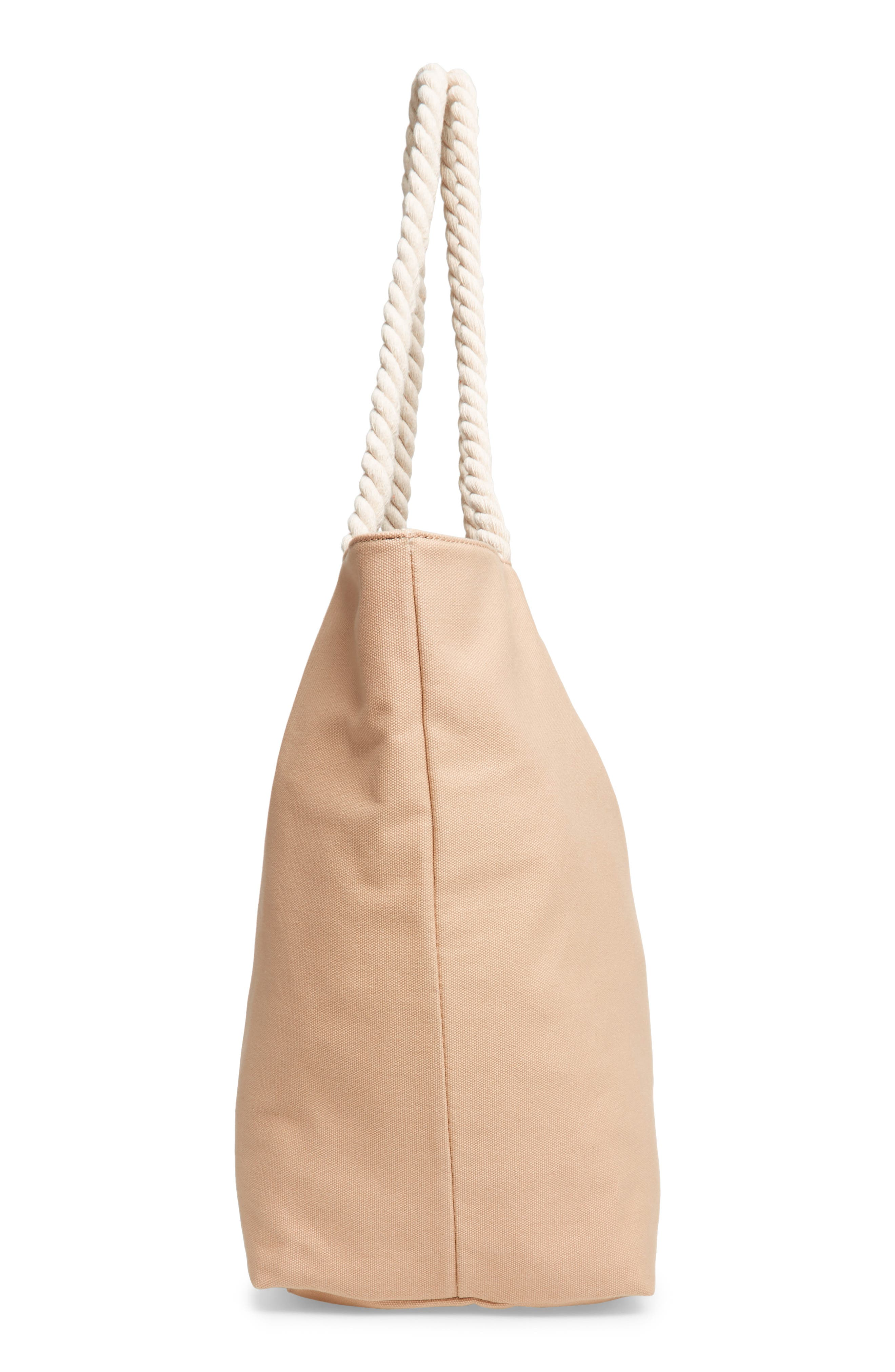 BP.,                             Rope Handle Canvas Tote,                             Alternate thumbnail 5, color,                             250