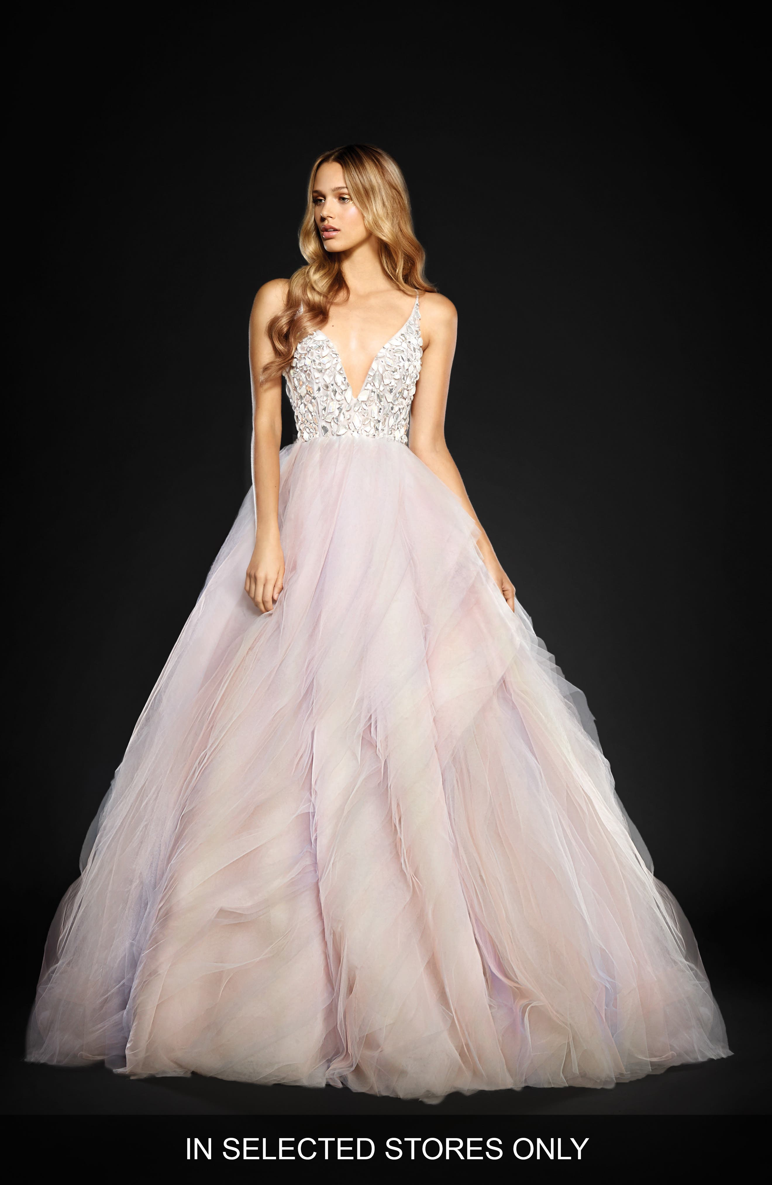 Jem Rock Candy Embellished Tulle Ballgown,                             Alternate thumbnail 4, color,                             900