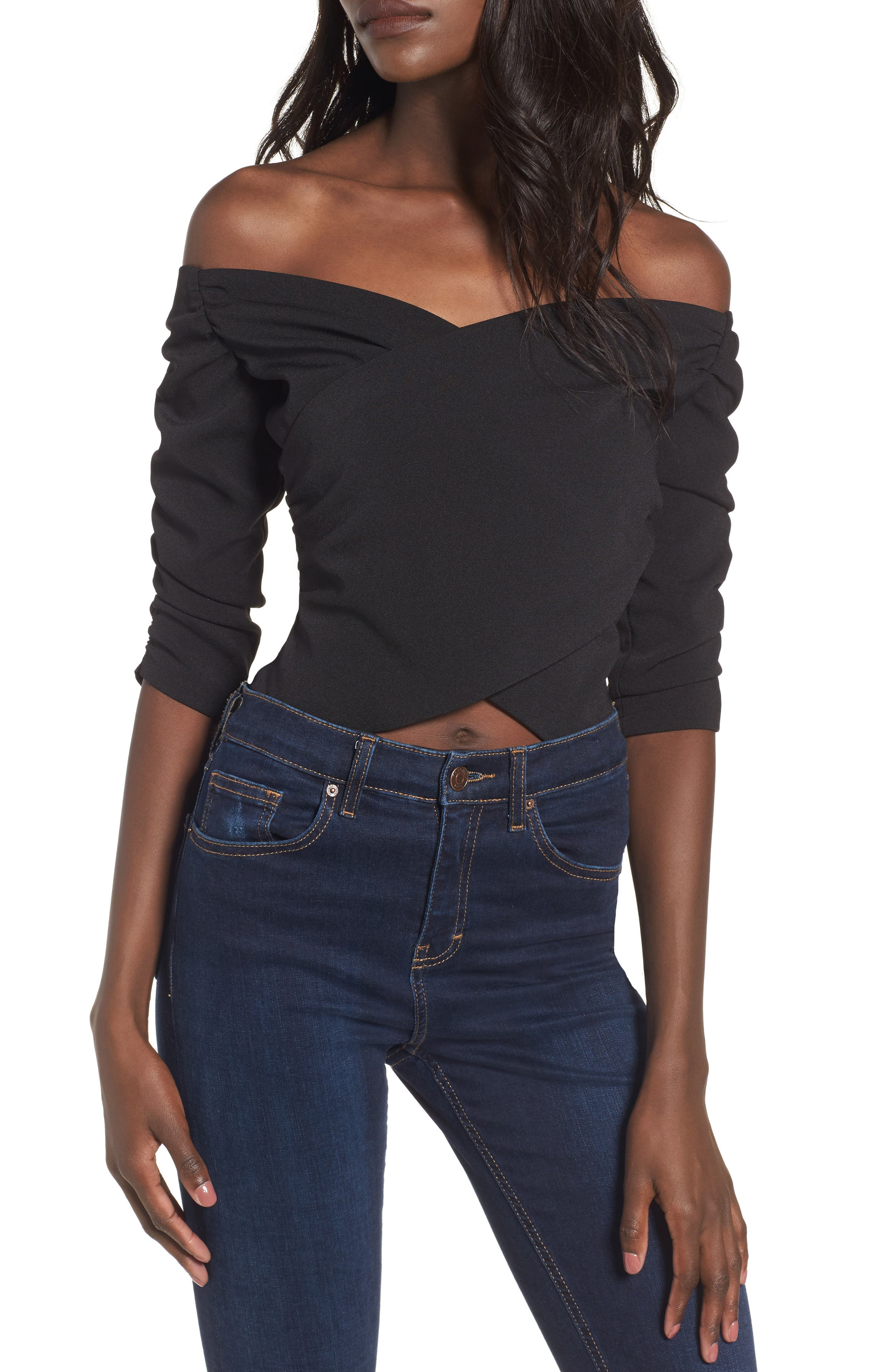 Bryant Off the Shoulder Bodysuit,                             Main thumbnail 1, color,