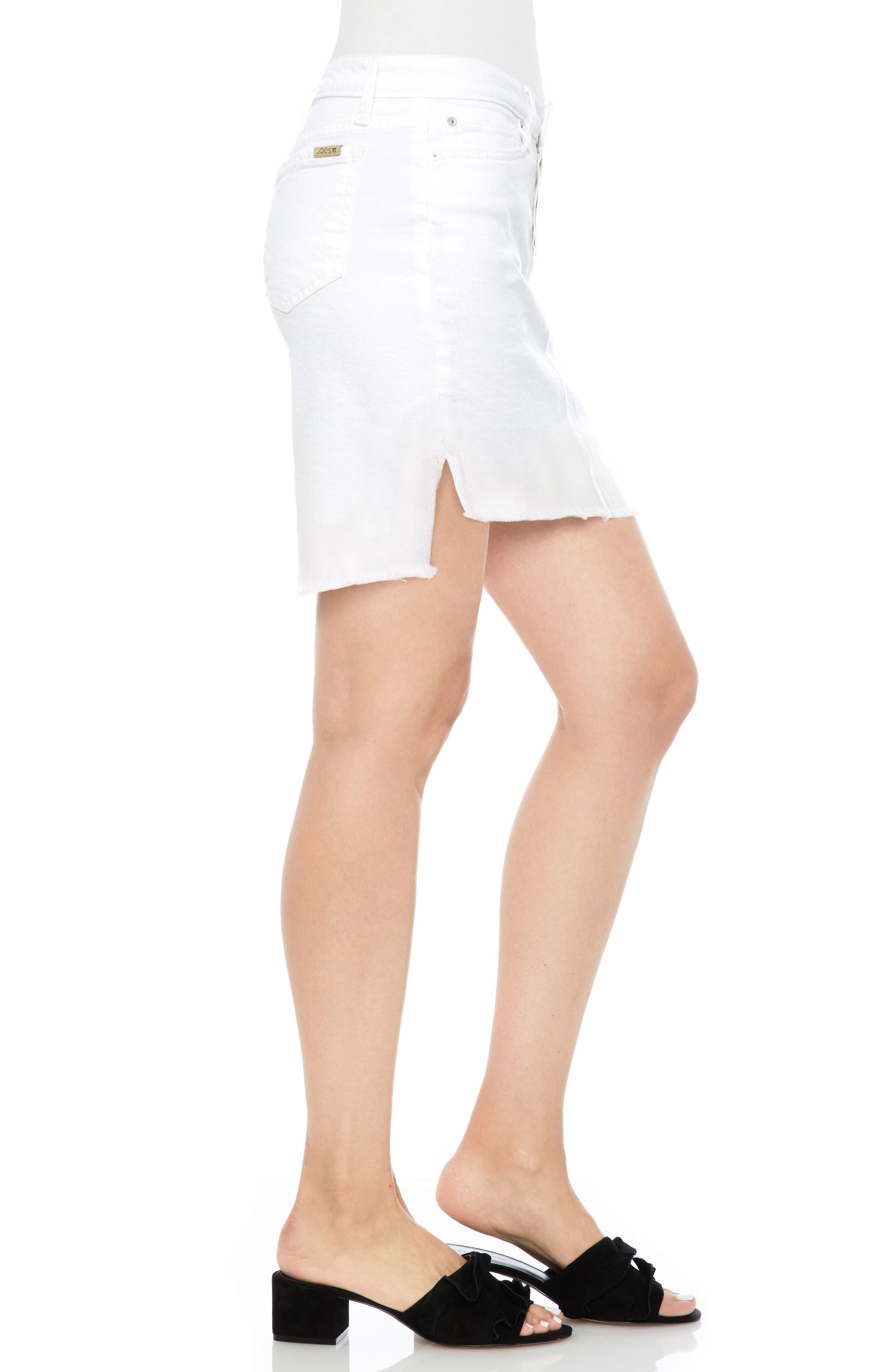 Denim Pencil Skirt,                             Alternate thumbnail 3, color,                             100