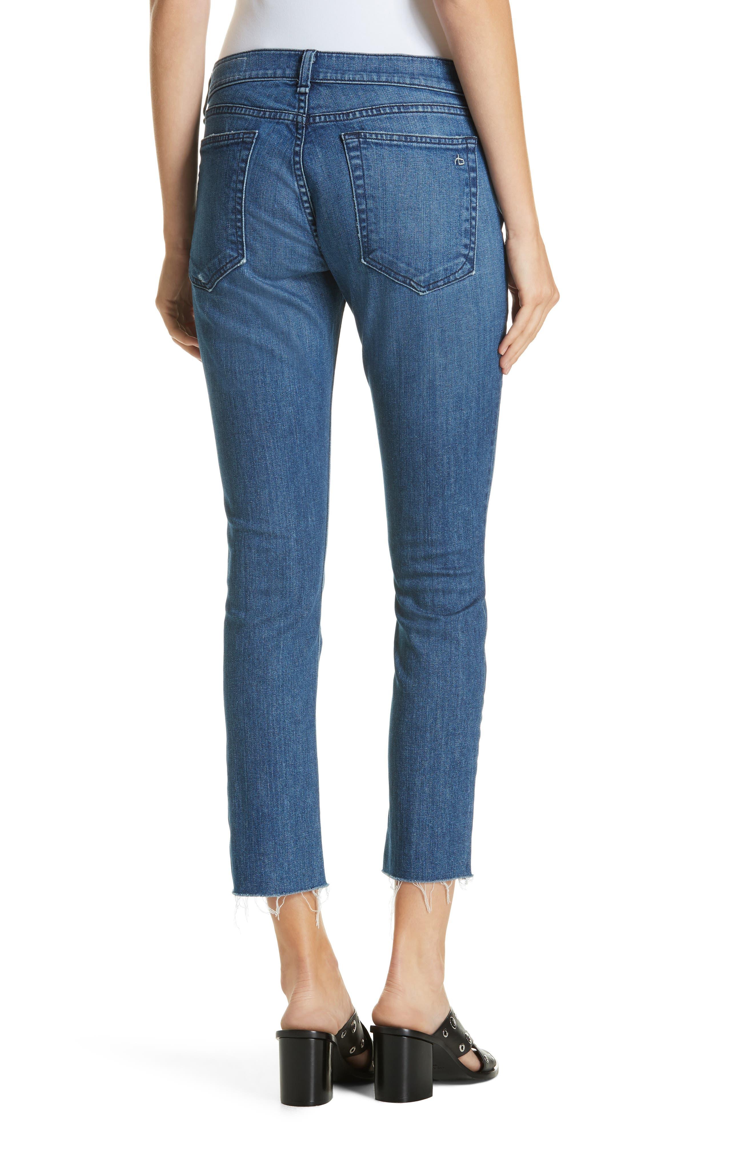 The Dre Crop Fray Hem Slim Fit Boyfriend Jeans,                             Alternate thumbnail 2, color,                             LOVIE