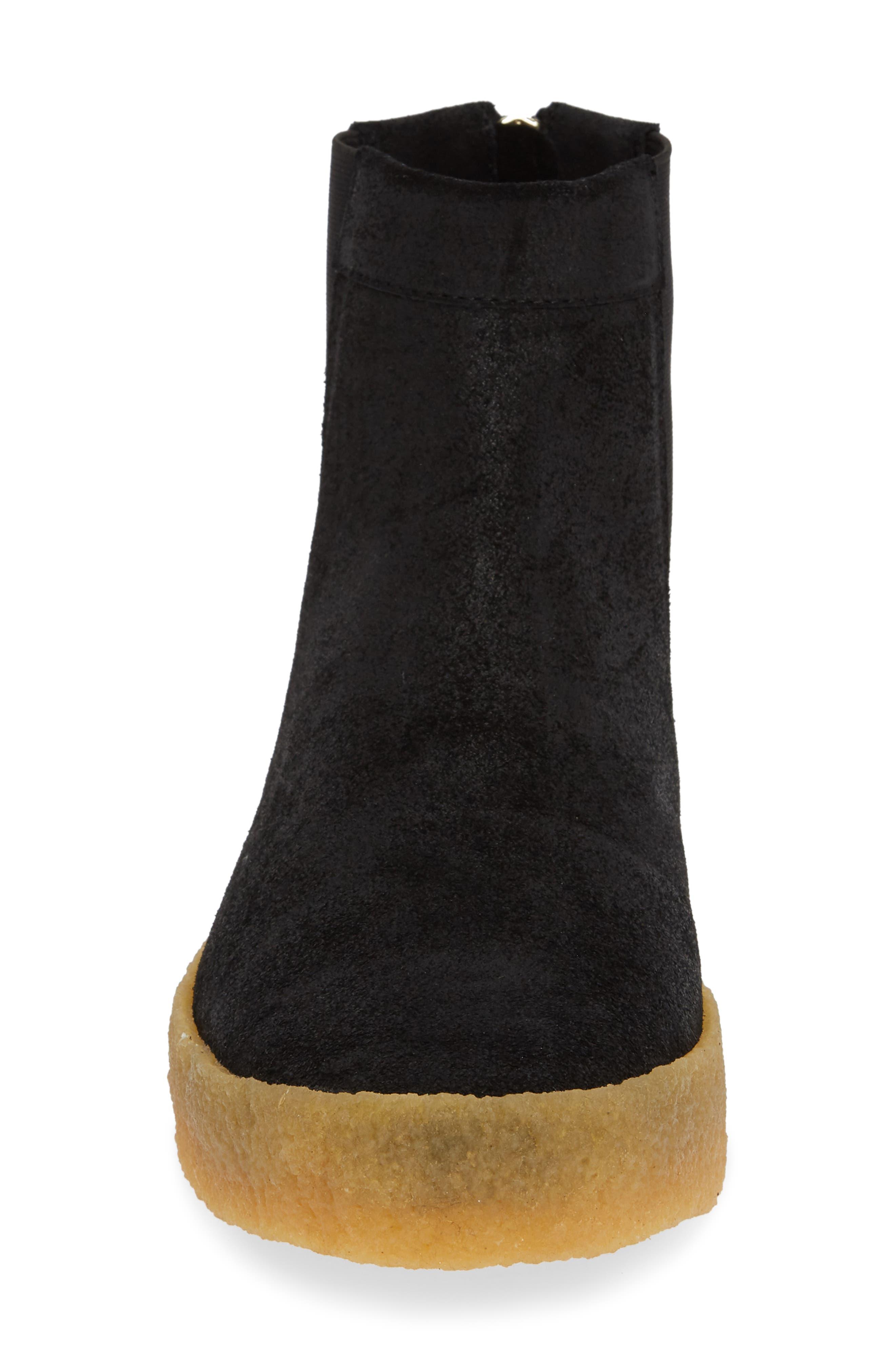 Sin Chelsea Boot,                             Alternate thumbnail 3, color,                             BLACK GUM SUEDE/ NYLON