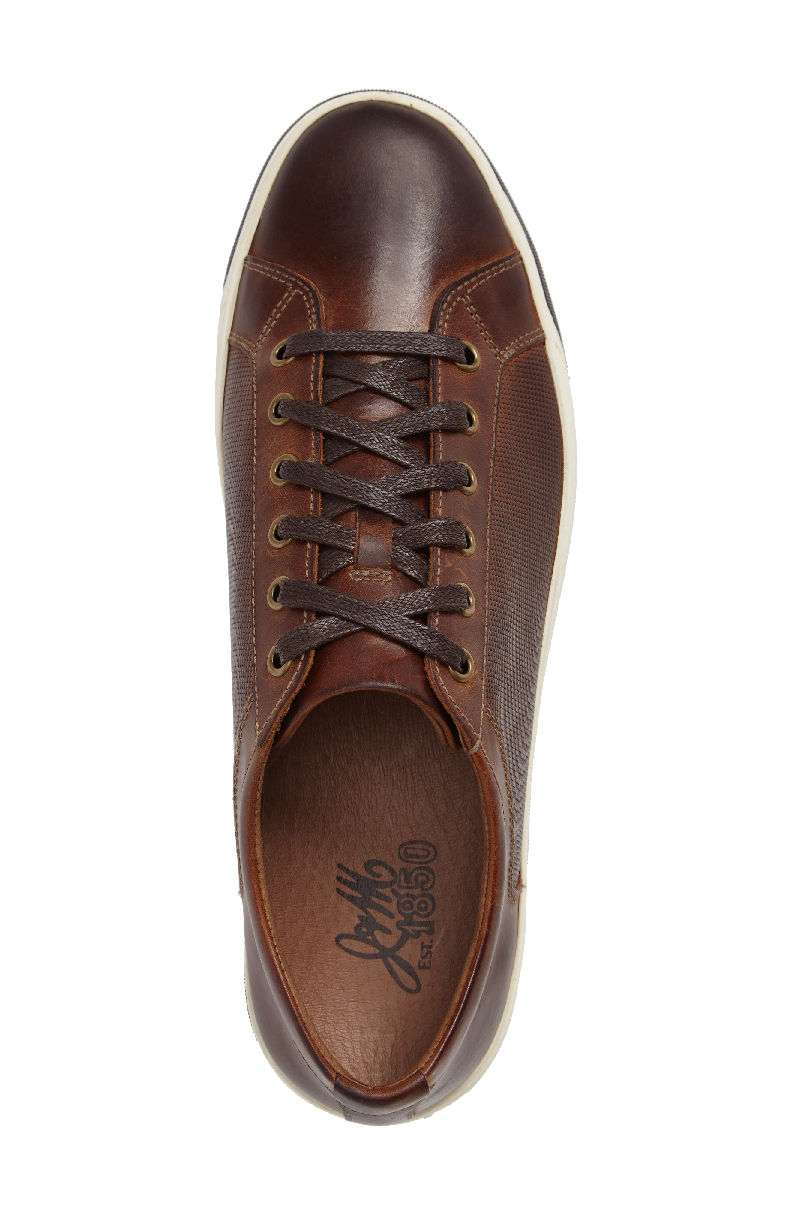 Allister Sneaker,                             Alternate thumbnail 3, color,                             BROWN LEATHER