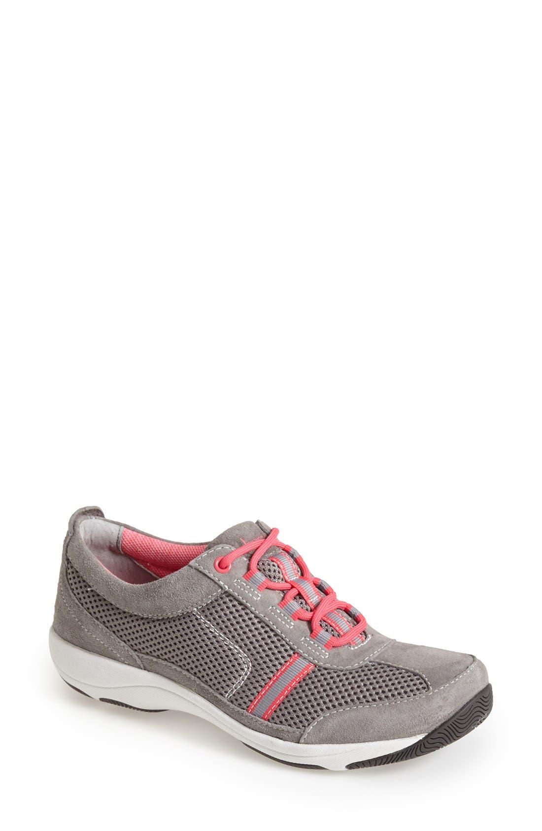 'Helen' Suede & Mesh Sneaker,                             Main thumbnail 5, color,