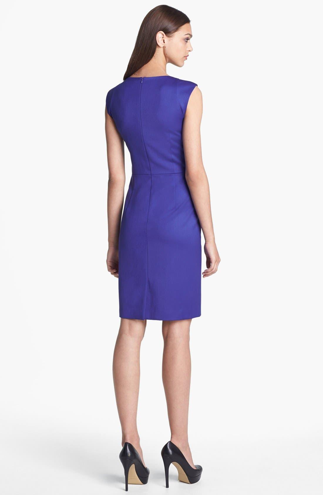 Seamed Sheath Dress,                             Alternate thumbnail 4, color,                             401