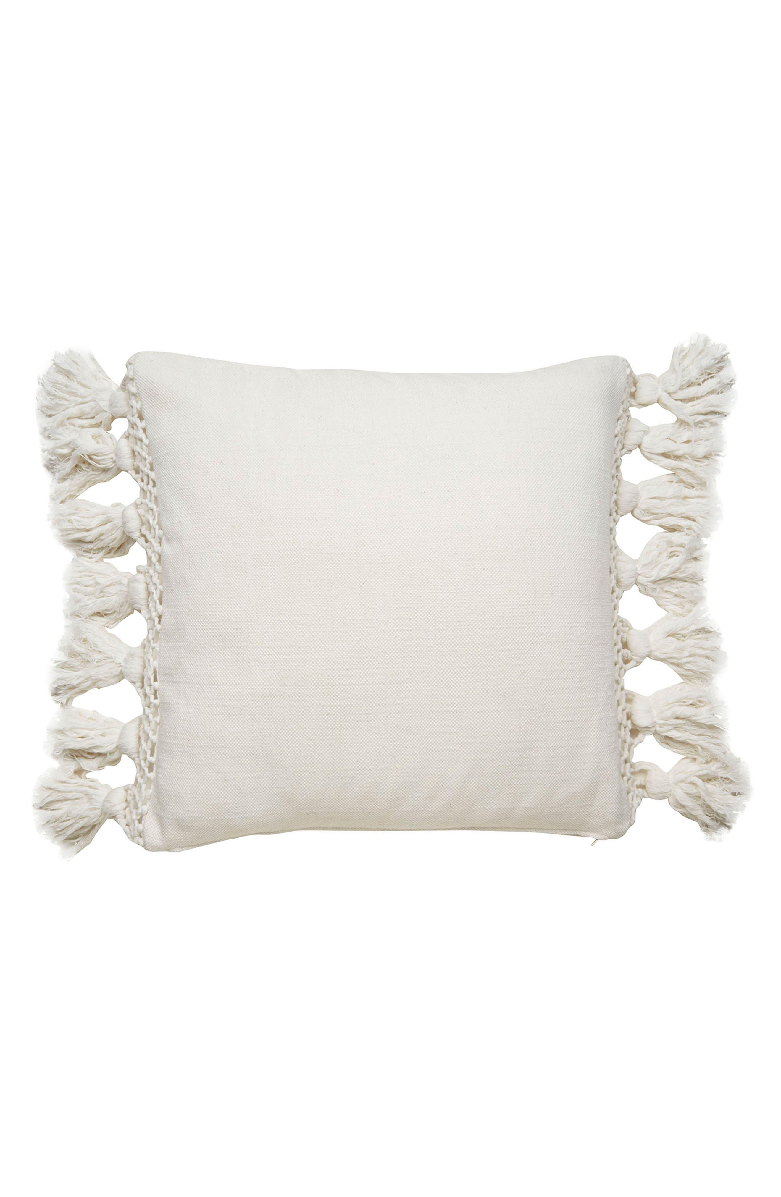 KATE SPADE NEW YORK,                             tassel pillow,                             Main thumbnail 1, color,                             100