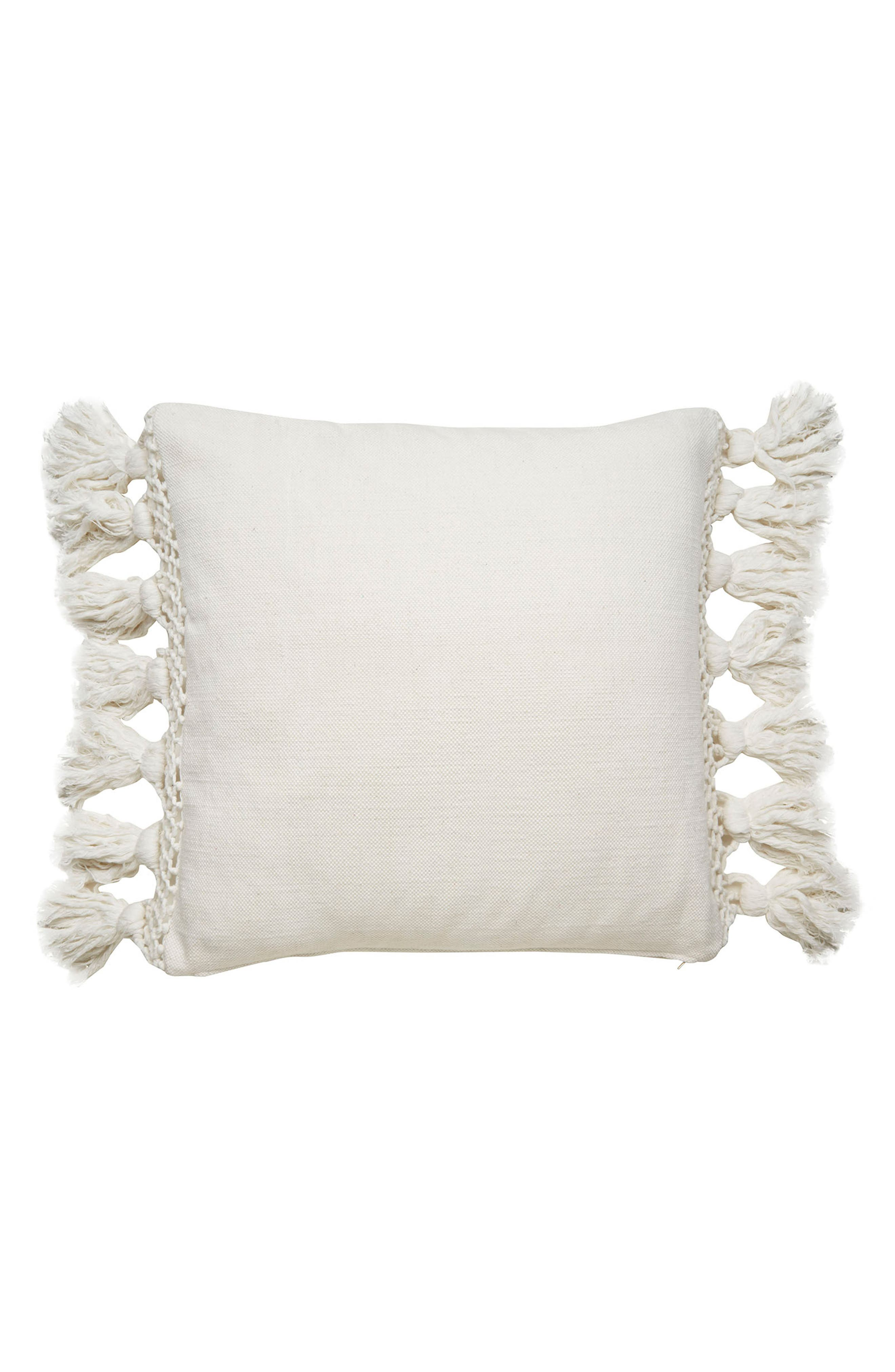 KATE SPADE NEW YORK tassel pillow, Main, color, 100